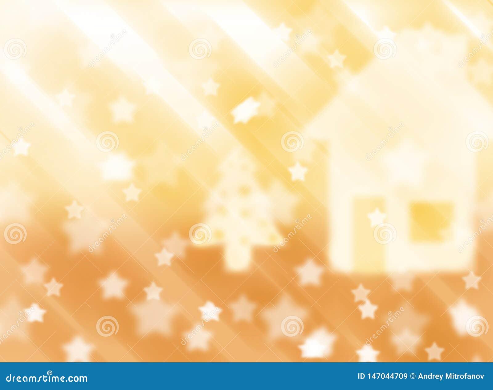 Vage roze achtergrond met sterren Abstractie Het thema van Kerstmis