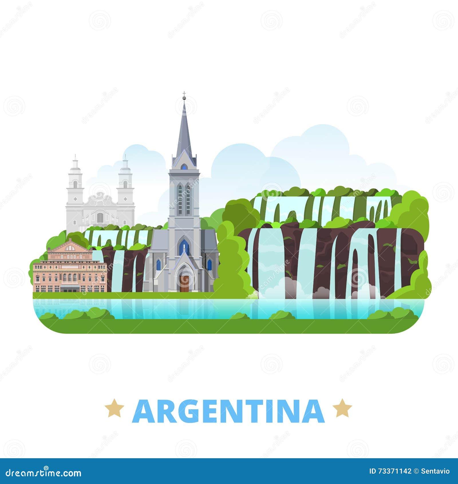 Vagel för tecknad film för lägenhet för mall för Argentina landsdesign