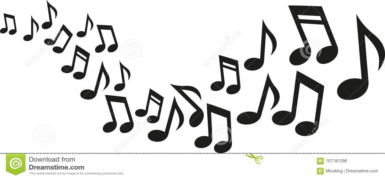 Vague de notes de musique