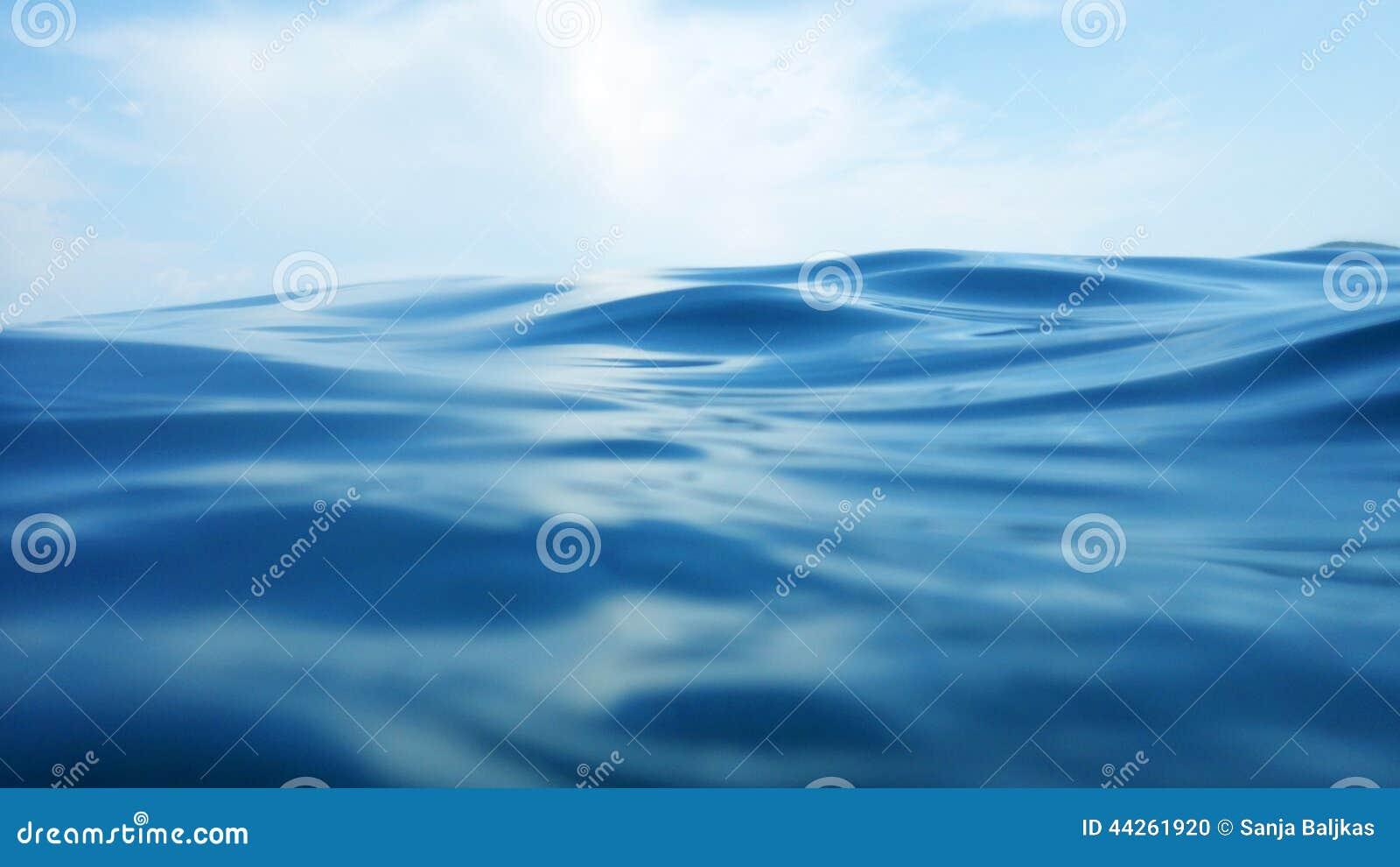 Vague sur la surface de mer