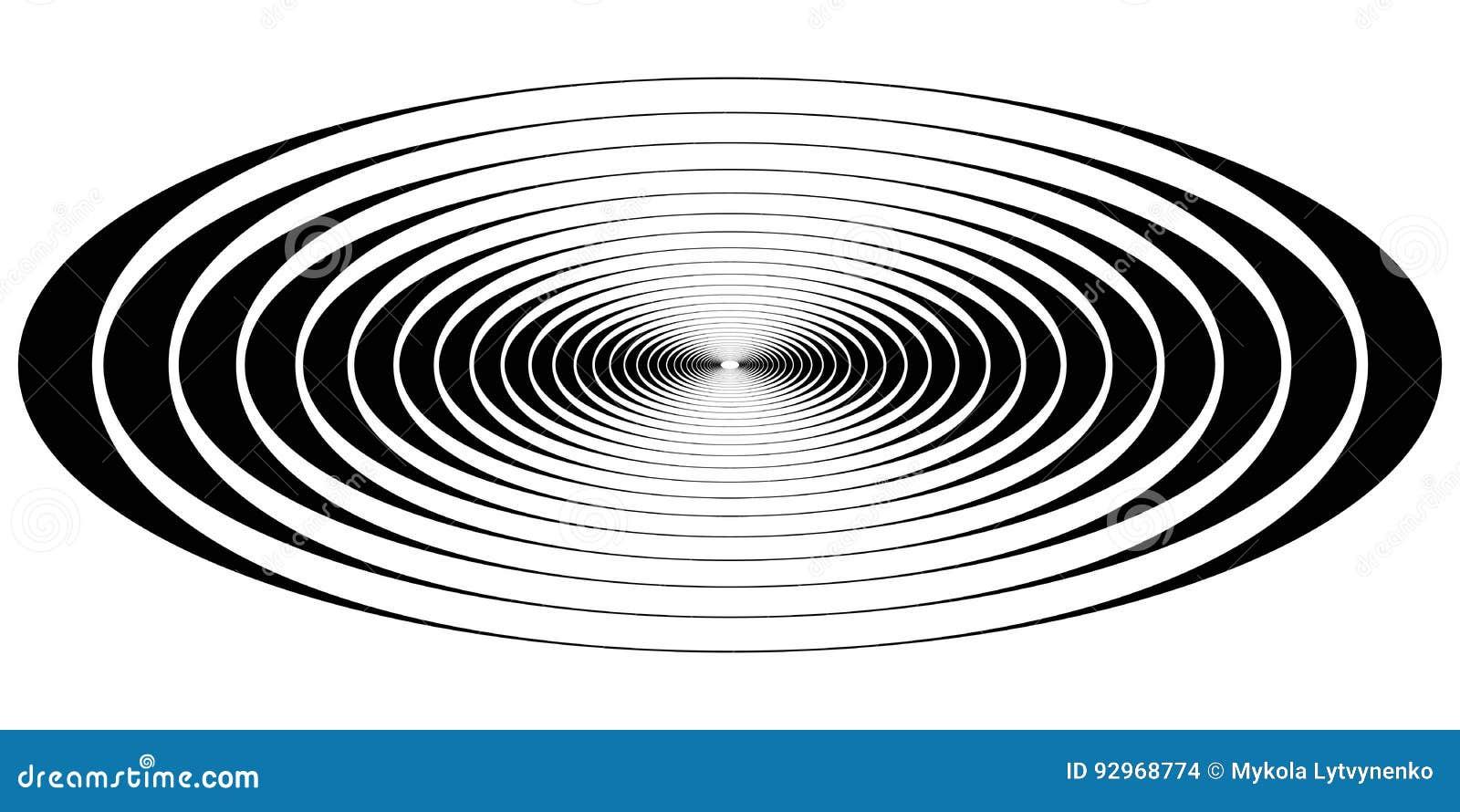 Vagues ovales de résonance de cercle concentrique