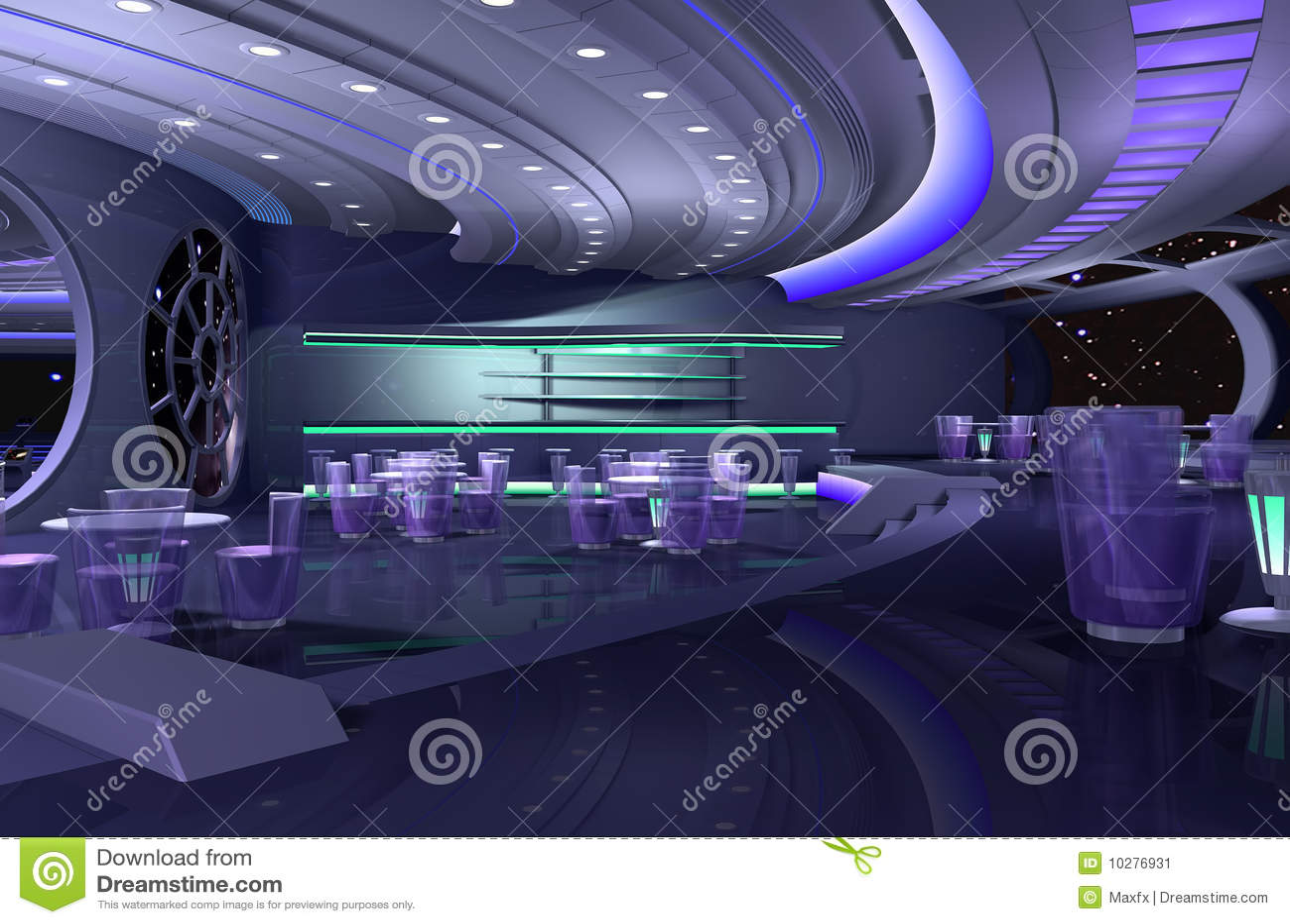 Vaisseau spatial 3d illustration stock image du for Interieur vaisseau spatial