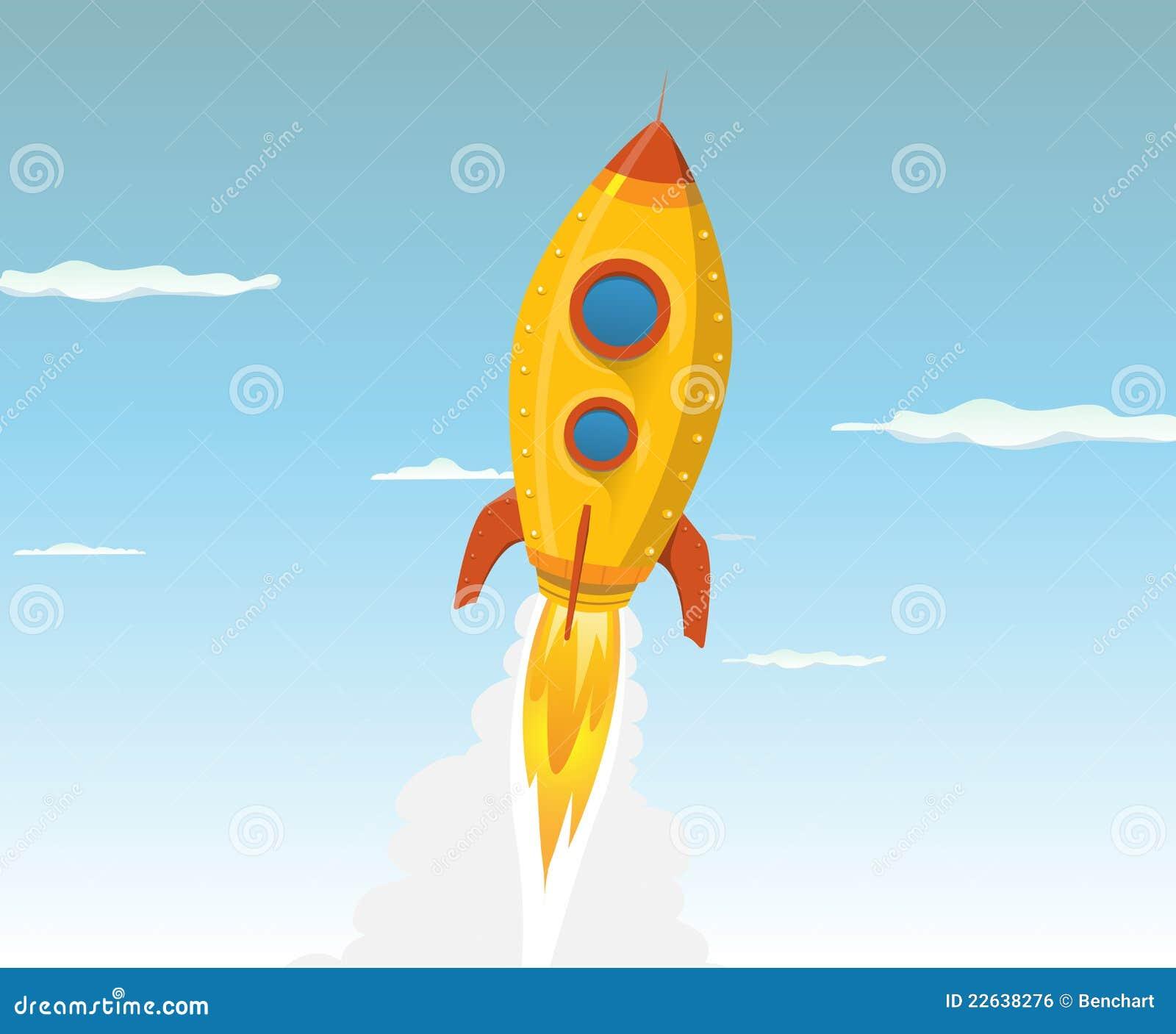 Vaisseau spatial d 39 or de dessin anim image libre de droits image 22638276 - Dessin vaisseau spatial ...