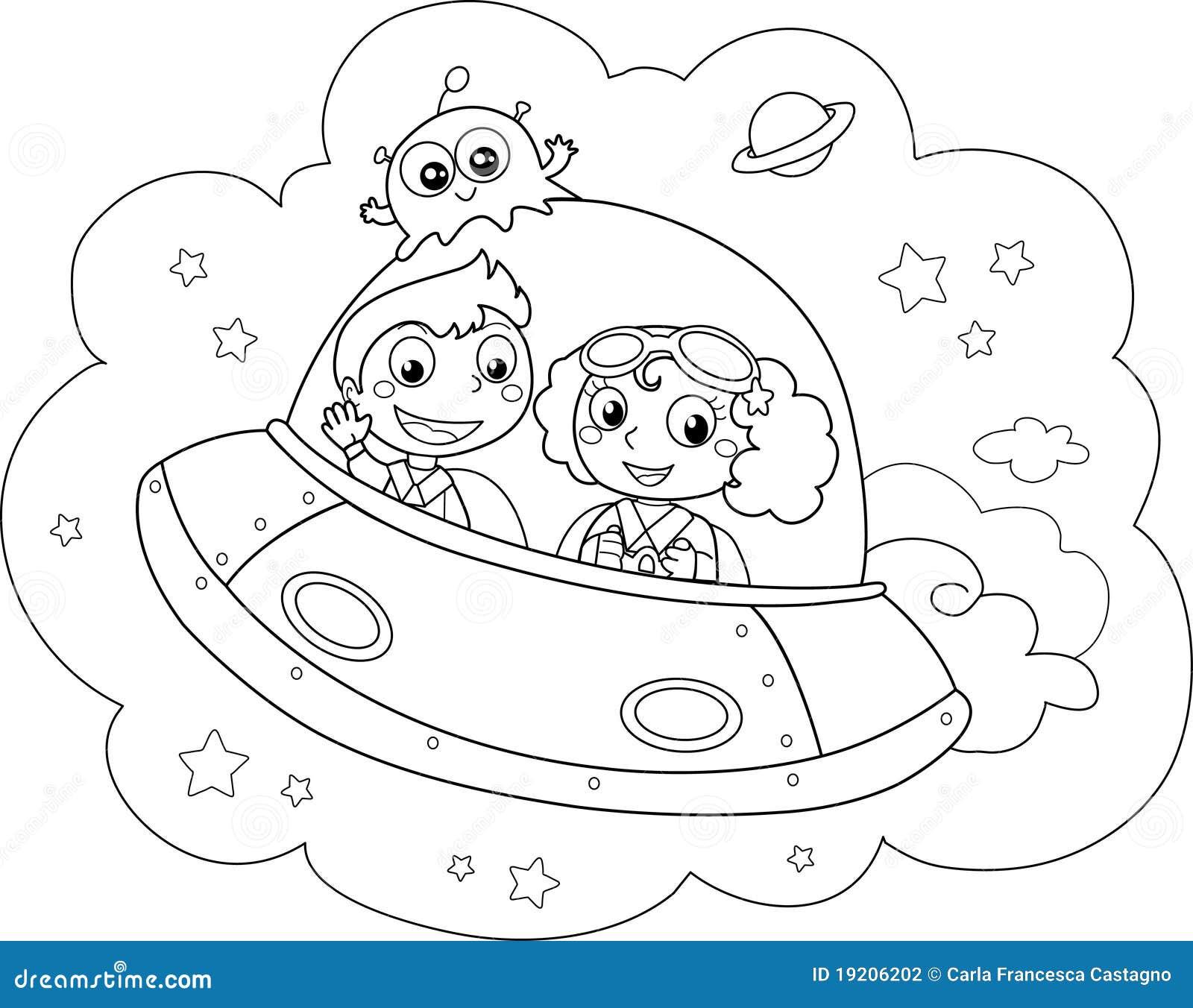 Vaisseau spatial de dessin anim photographie stock image 19206202 - Dessin vaisseau spatial ...