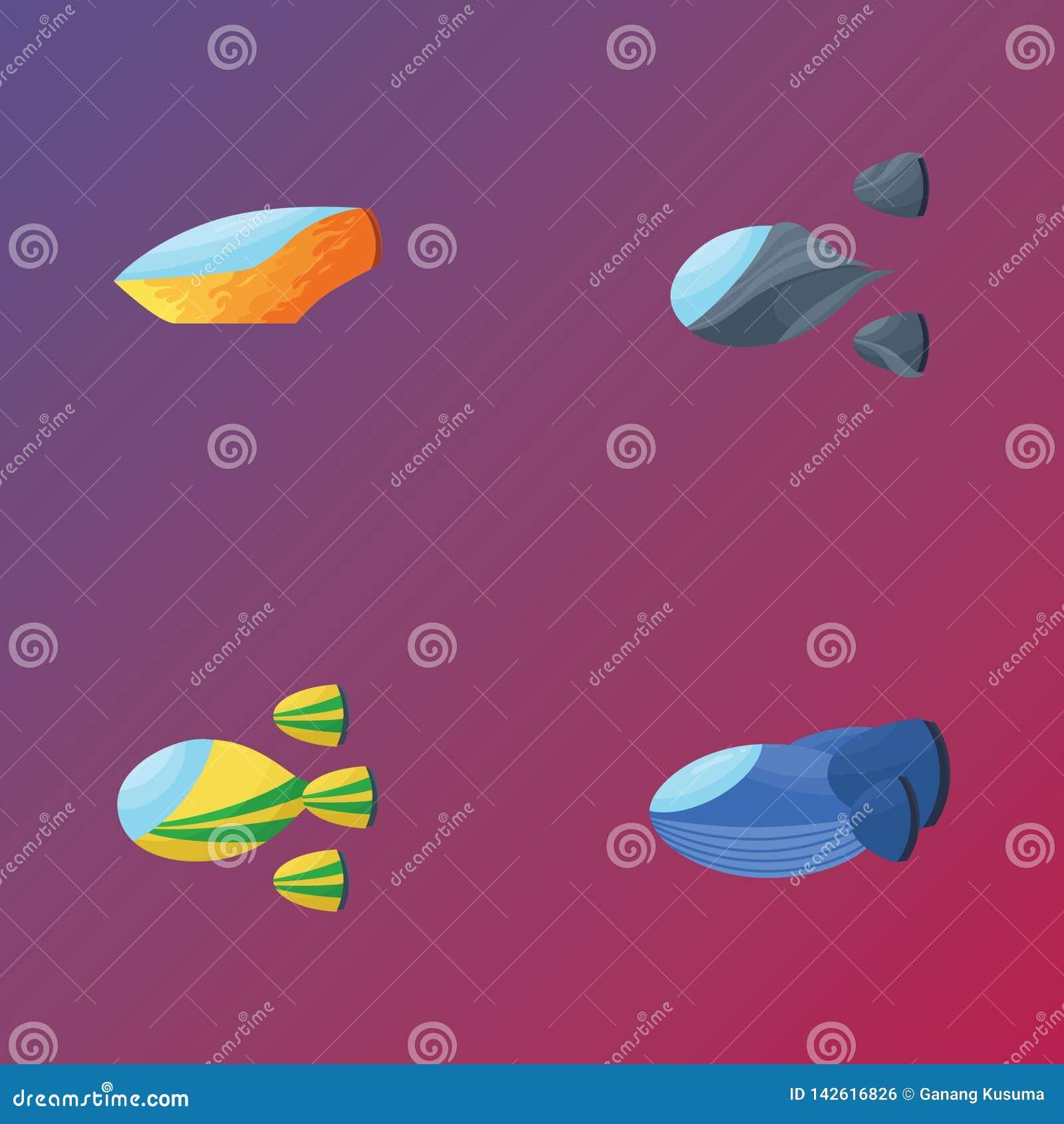 Vaisseau spatial quatre de emballage pour le fond et la conception d objet