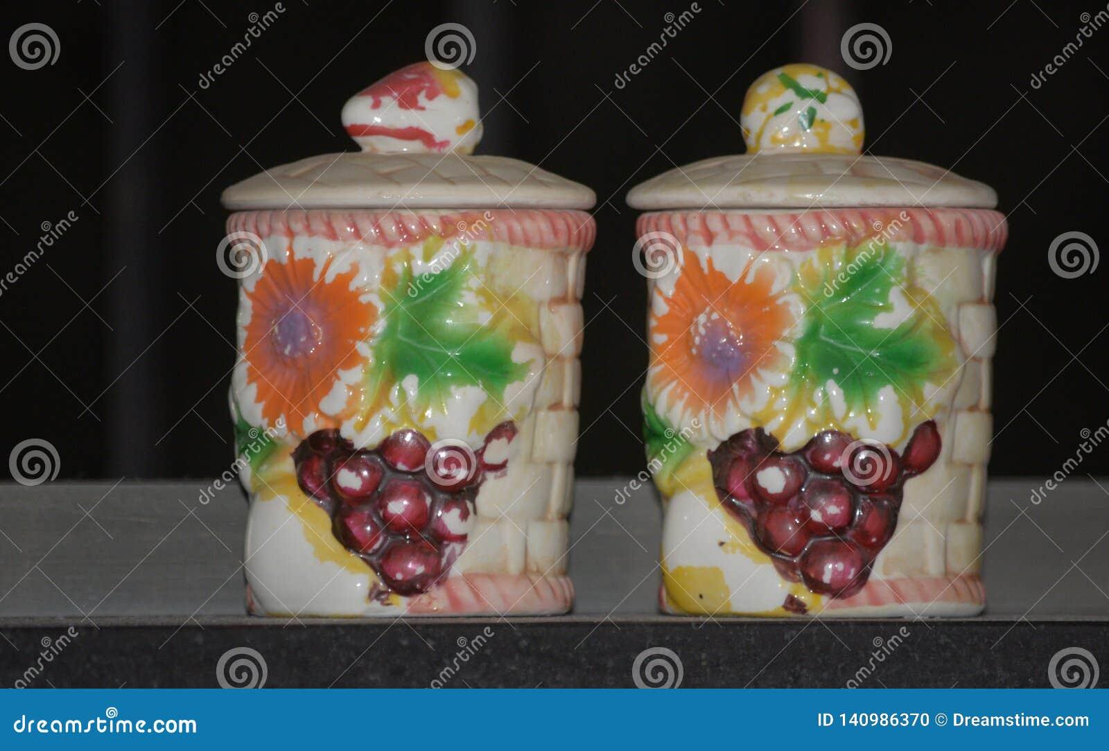 Vaisselle de cuisine en céramique de pots d argile de concepteur