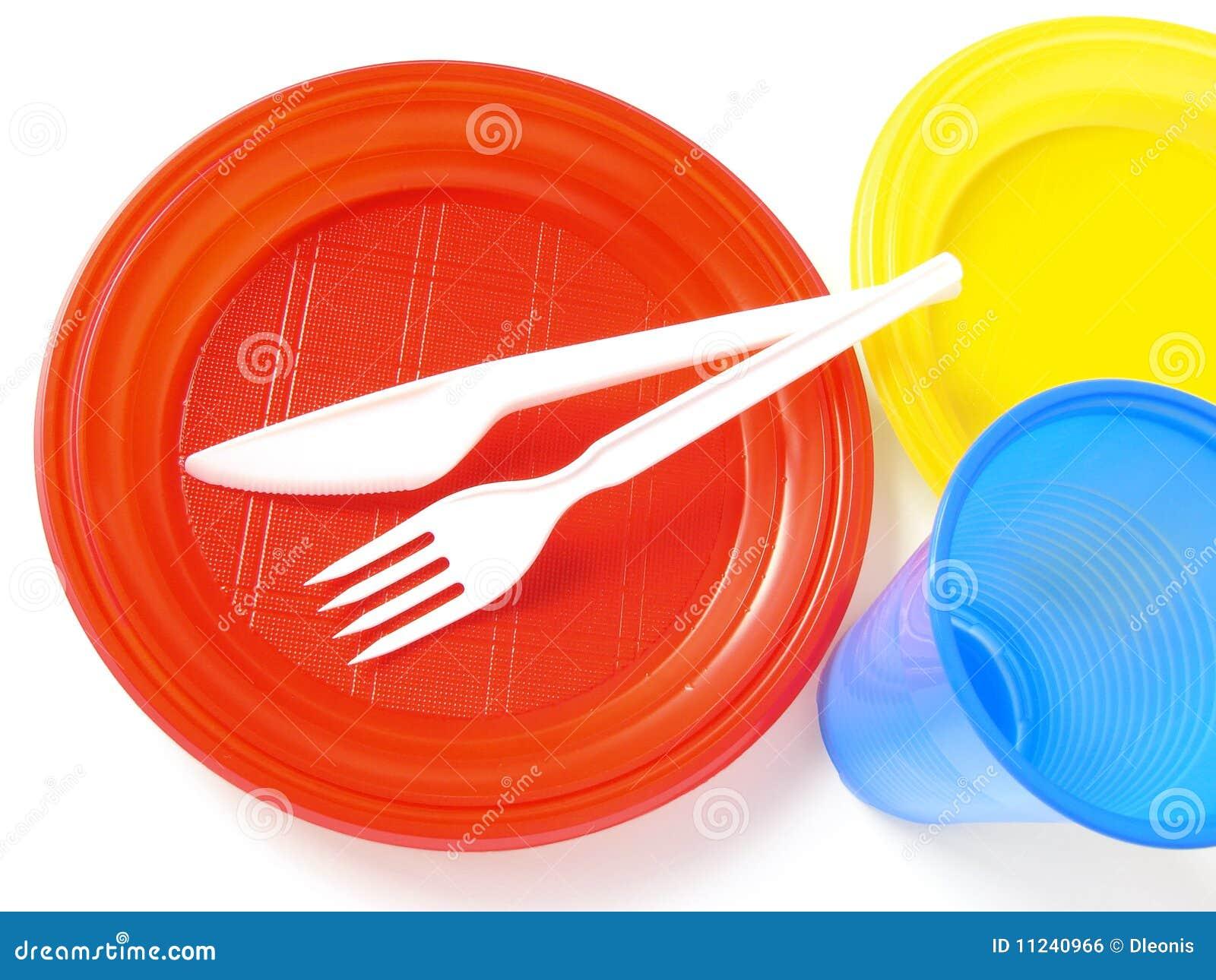 vaisselle en plastique illustration stock illustration du color 11240966. Black Bedroom Furniture Sets. Home Design Ideas