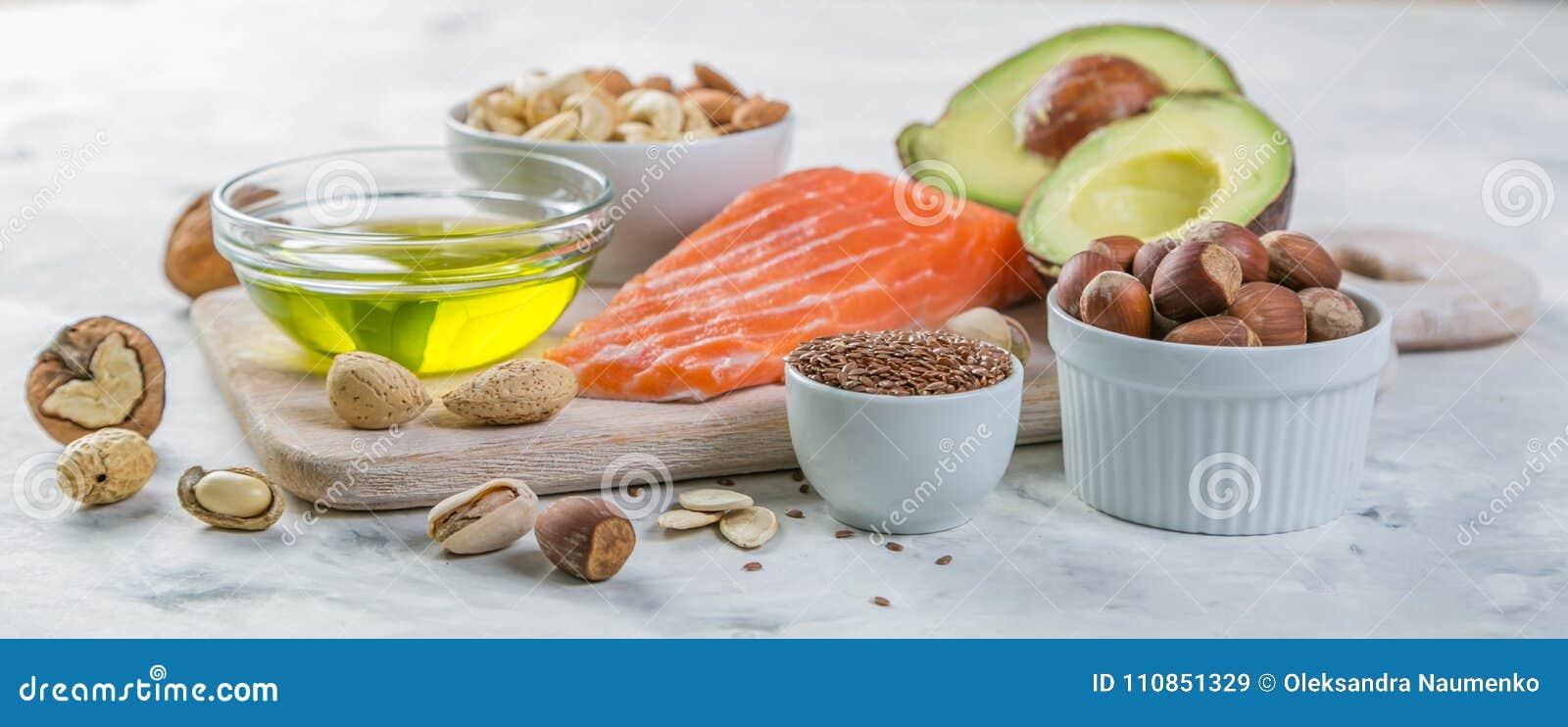 Val av bra feta källor - sunt ätabegrepp Ketogenic banta begreppet