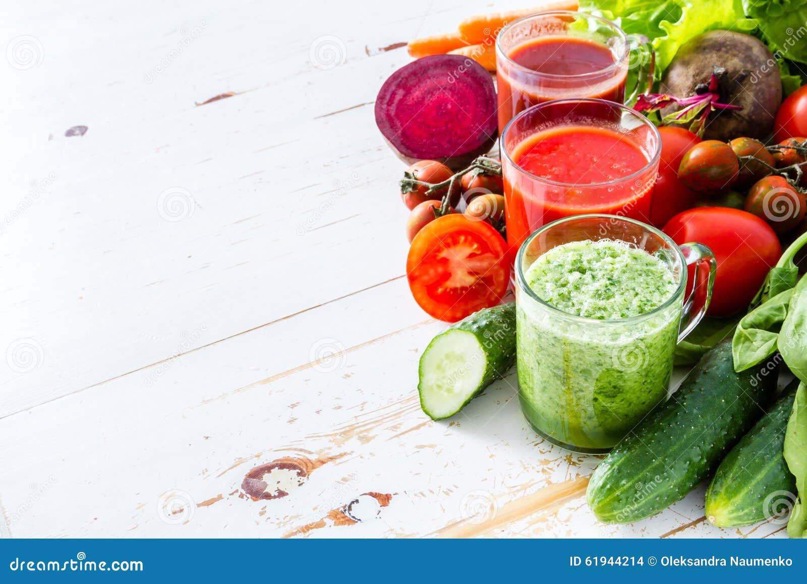 Val av grönsaker och fruktsaft