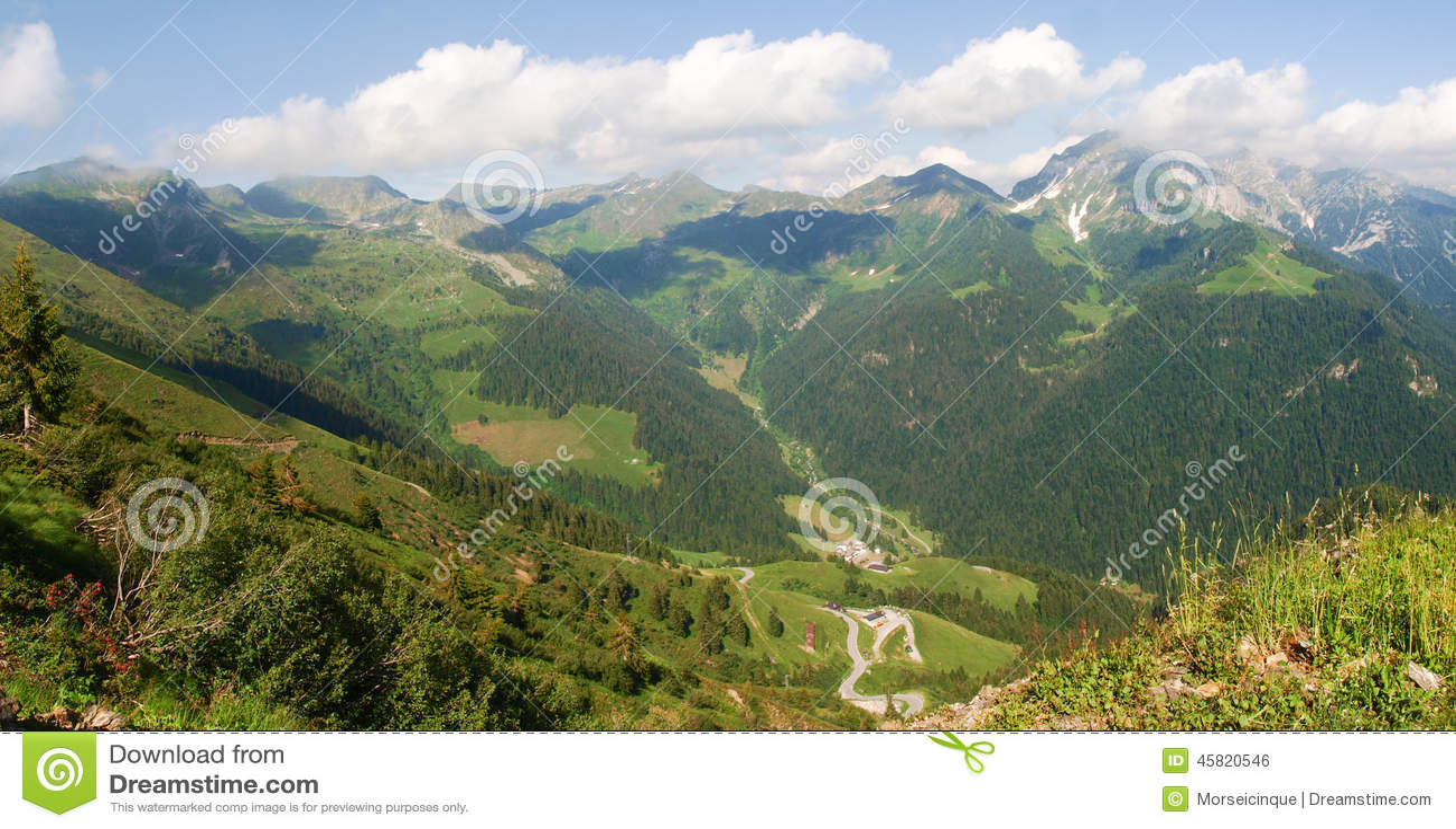 Val Brembana, direction of Passo San Marco