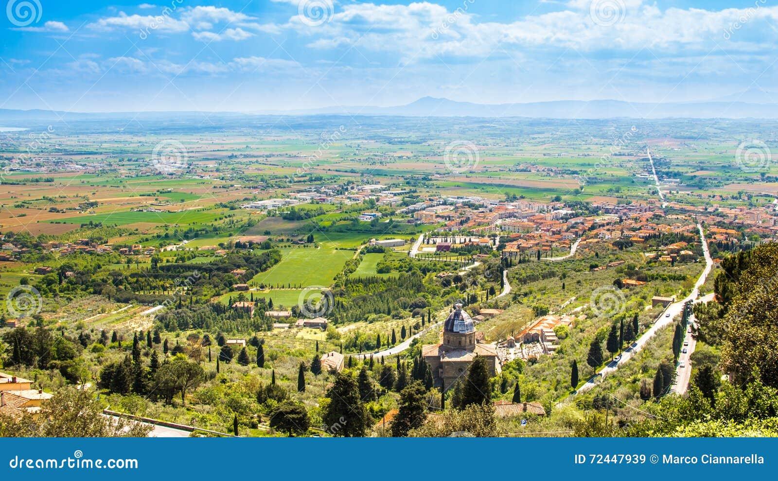 Val di Chiana, ein alluviales Tal in Toskana, Italien