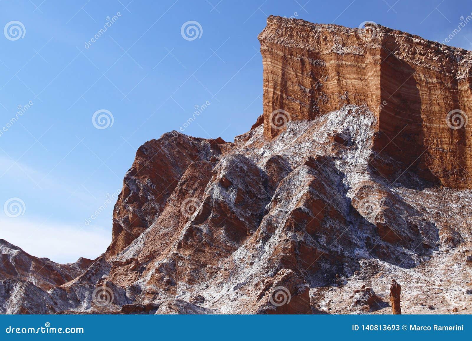 Vale da lua - la Luna de Valle de, deserto de Atacama, o Chile