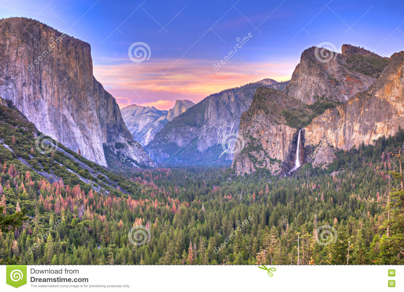 Vale de Yosemite na opinião do túnel