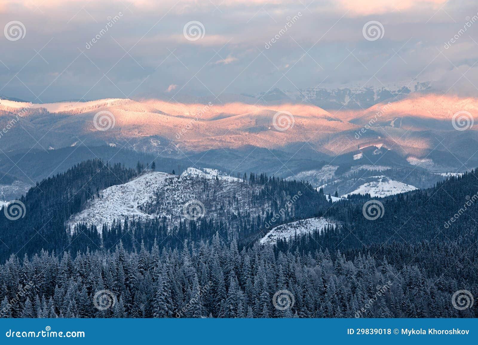 Vale nebuloso da montanha