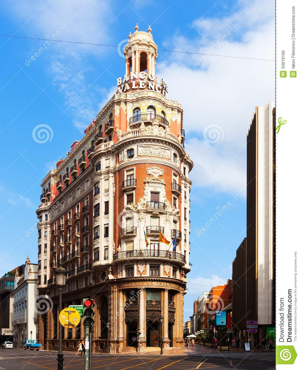 Valencia Bank Building Valencia Spain Editorial Image Image 34616160