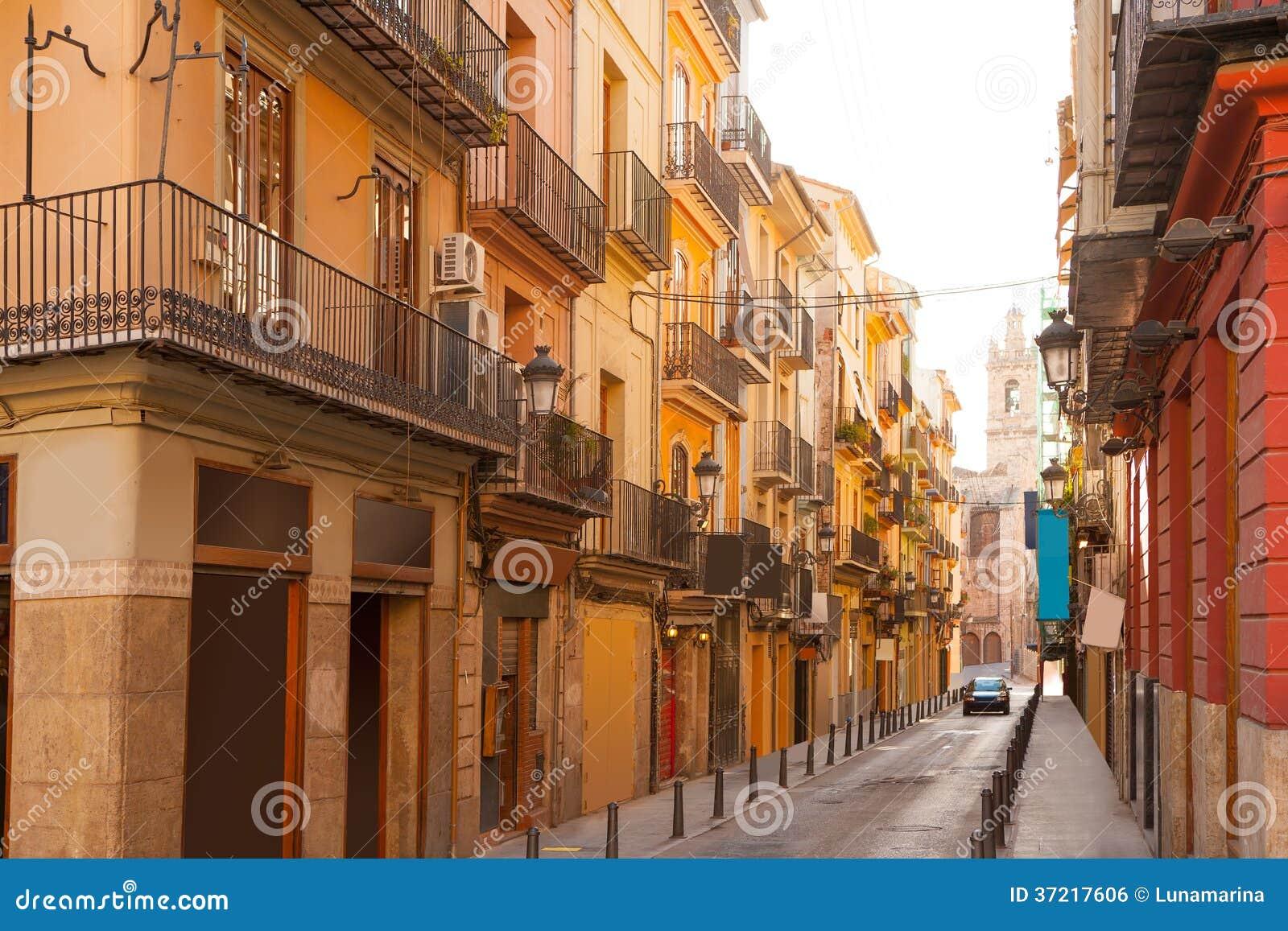 Valencia Bolseria Street In Barrio Del Carmen Downtown Stock Photo ...