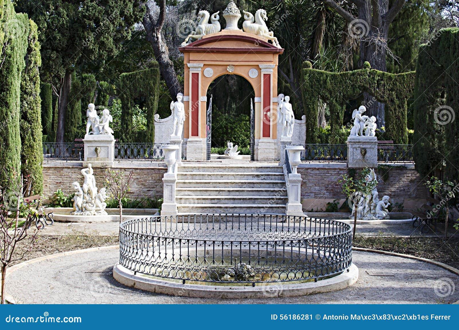 Valencia jardines de monforte imagen de archivo imagen for Jardines de monforte valencia