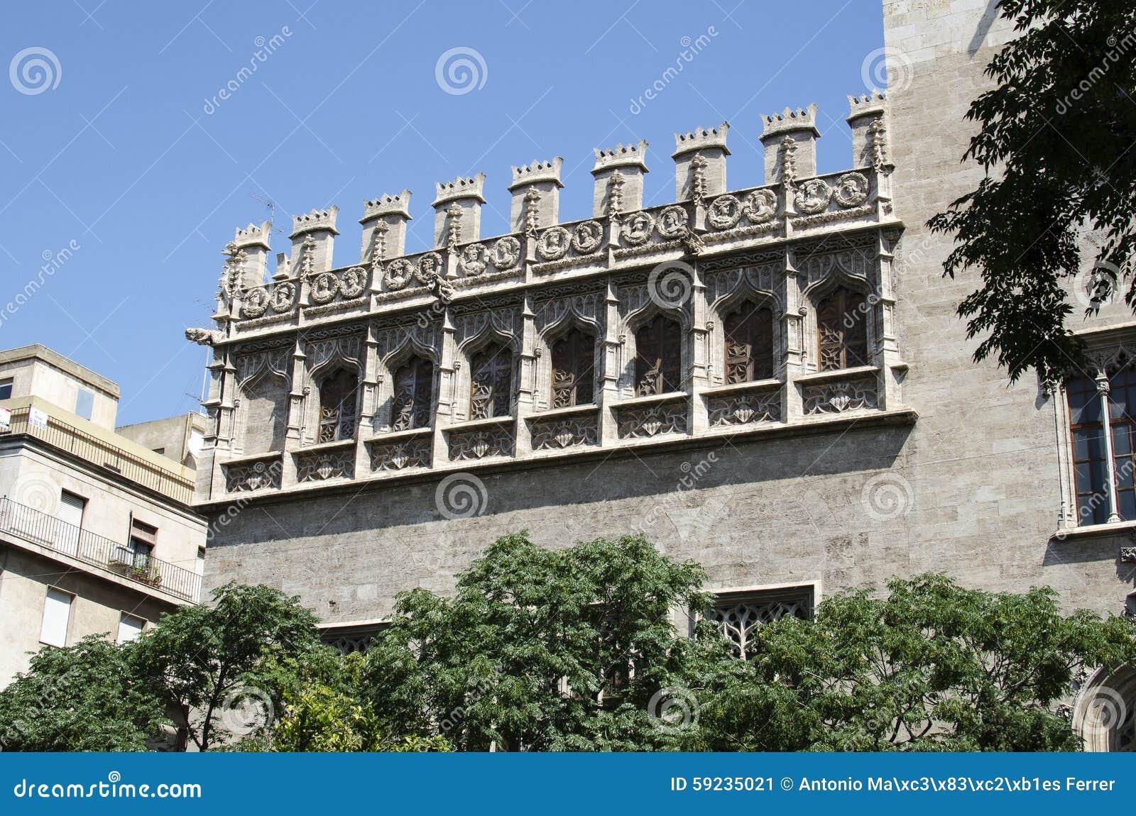 Download Valencia, Lonja, Mar Del Consulado Imagen de archivo - Imagen de consulado, edificio: 59235021