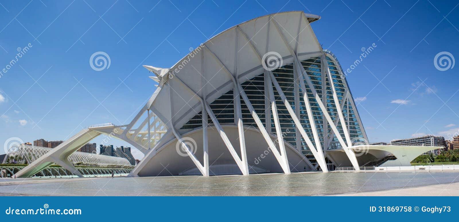 valencia moderne architektur redaktionelles stockfoto