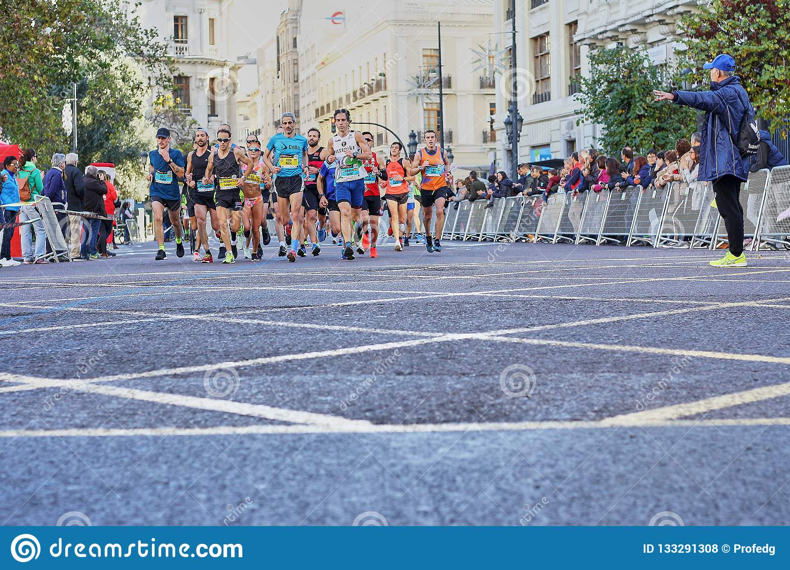 VALENCIA, SPAIN - DECEMBER 02: Runners compete in the XXXVIII Valencia Marathon on December 18, 2018 in Valencia, Spain