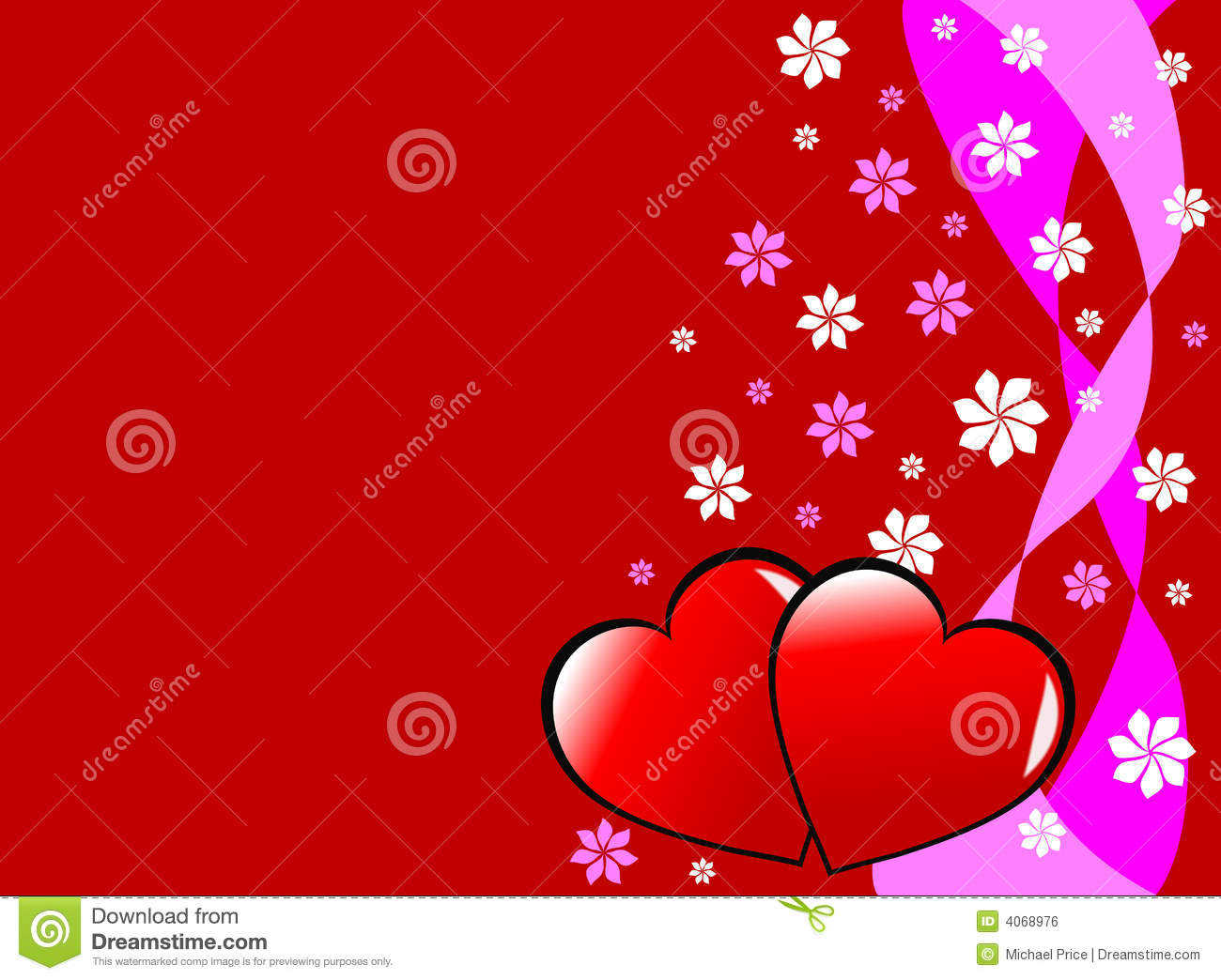 Gold Hearts With Flowers Royalty Free Stock Image - Image: 29105306
