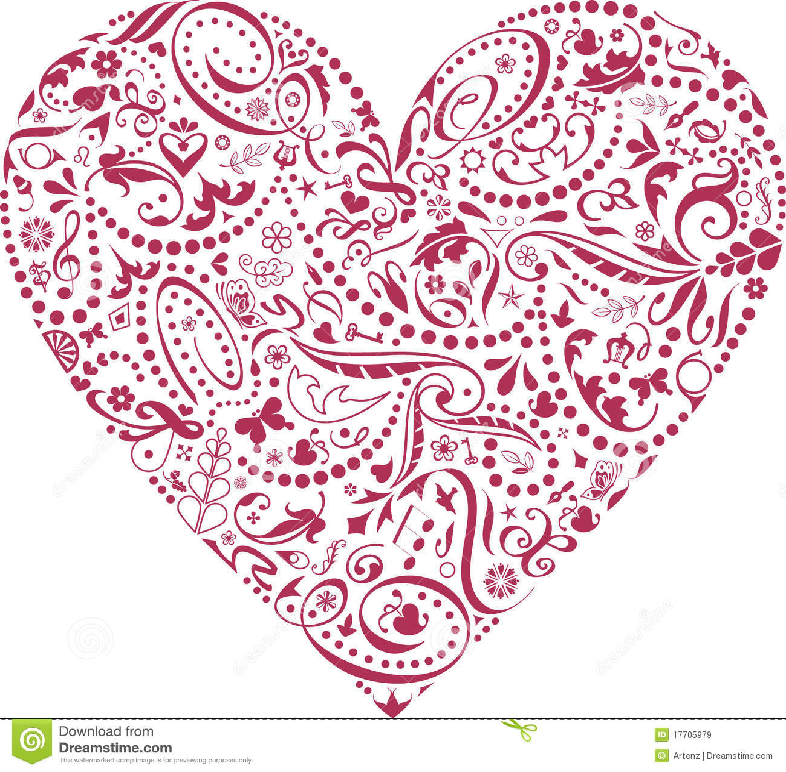Valentijnskaart van Pictogrammen