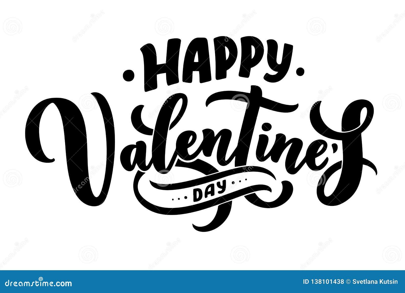 Valentin dagbokstäver för hälsningkortdesignen, romantisk illustration festlig garnering Svart inbjudankort för artikel med ensam