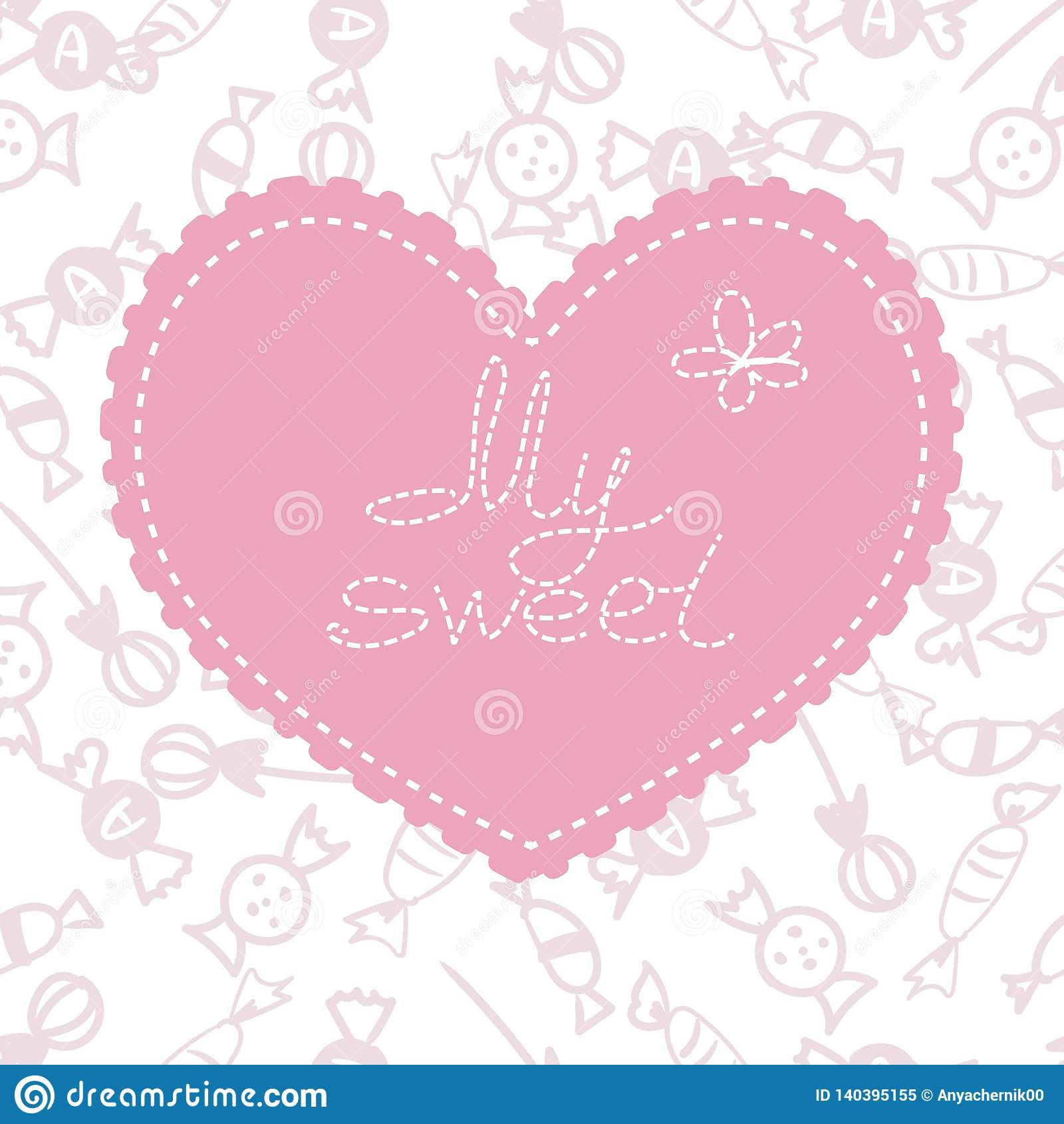 Valentin för form för korthjärtaförälskelse