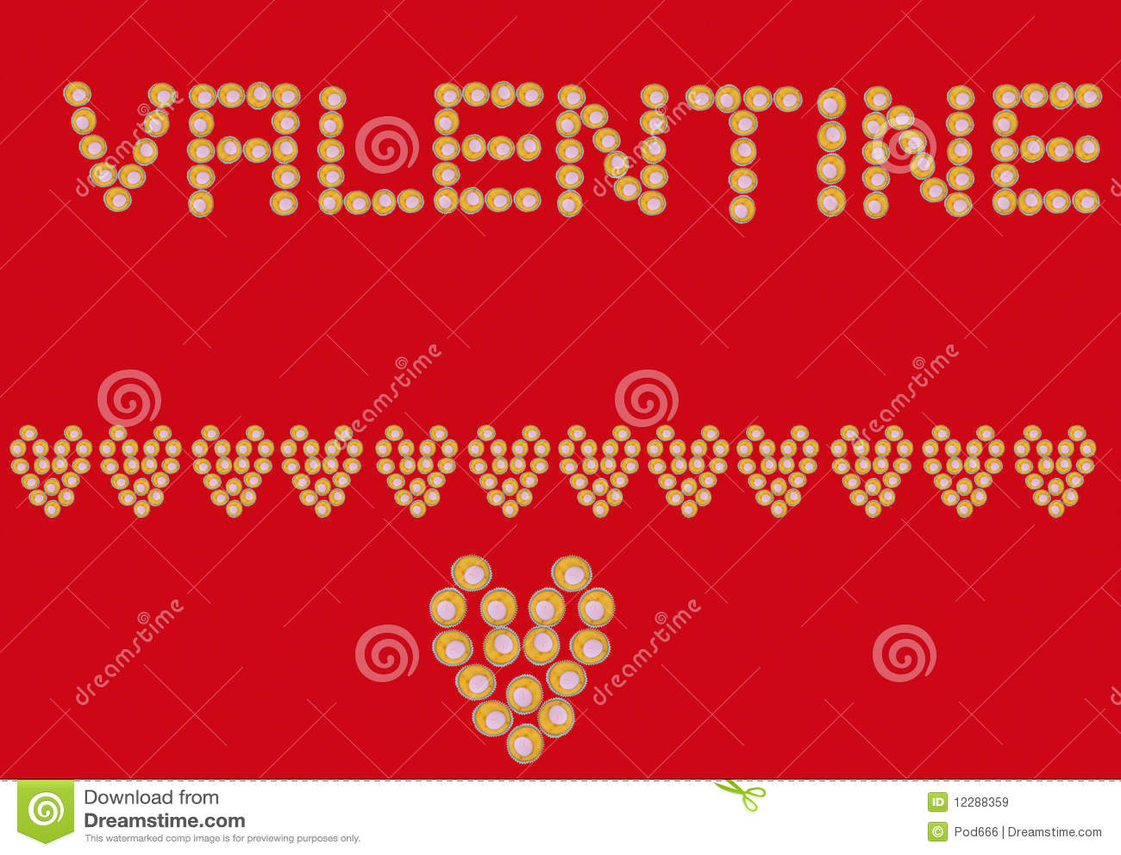 Valentin för banermuffinhjärta