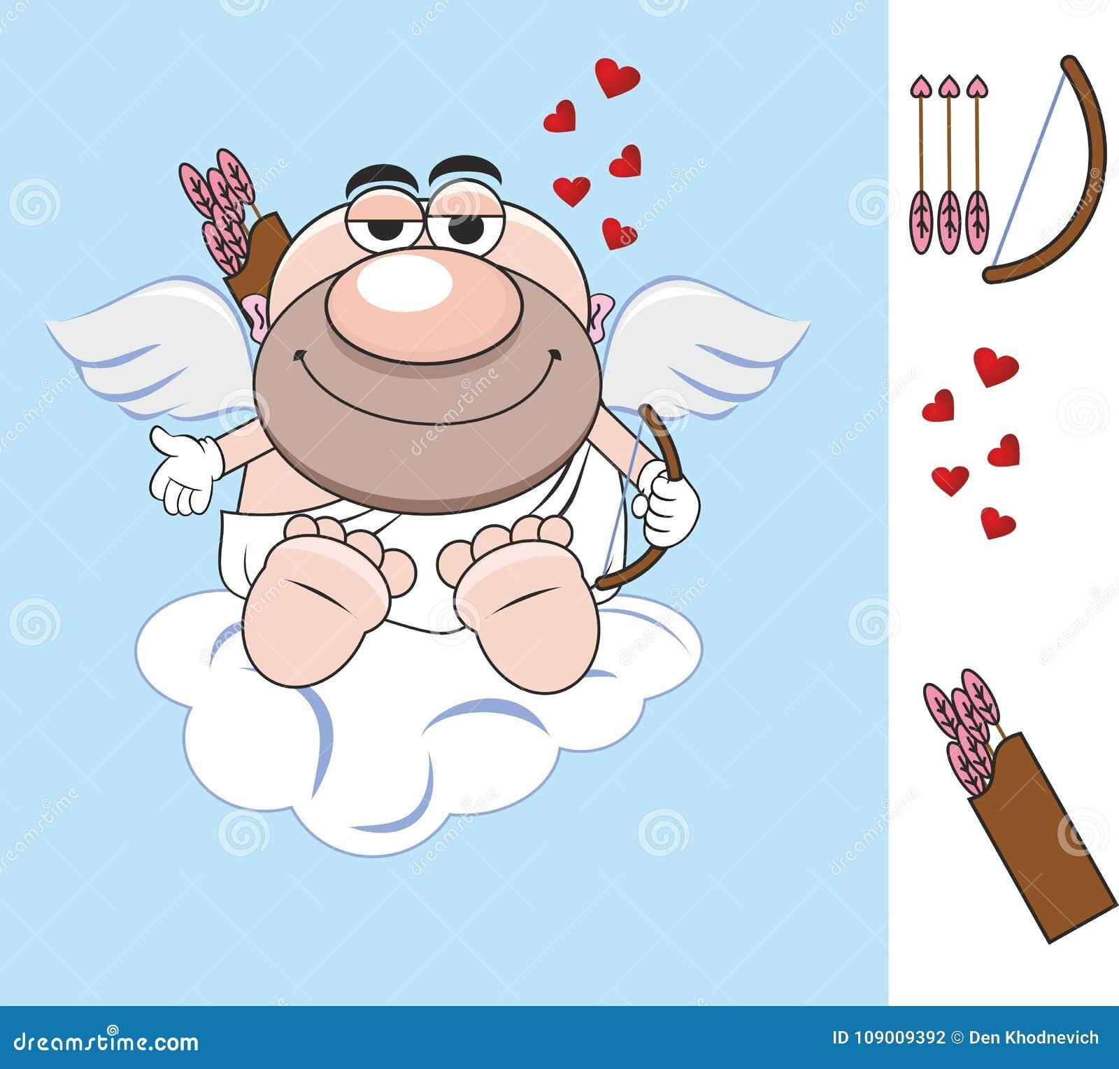 Valentin för dag s arrowheaden Hjärta stor röd hjärta för förälskelse för förälskelseängelvingar gåva bokstav cupid cupid aneurys