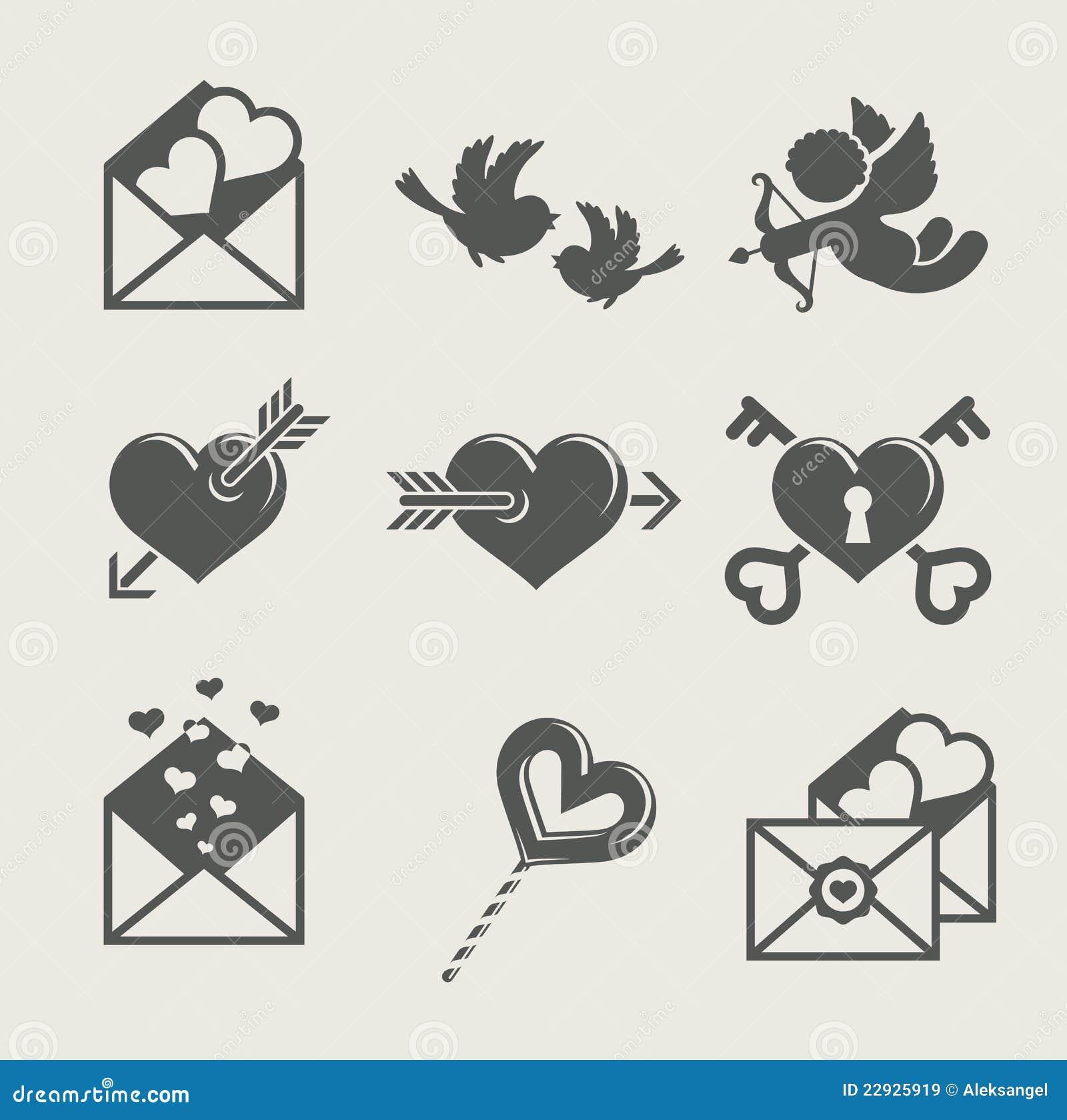 Valentin för saint för dagsymbol s set