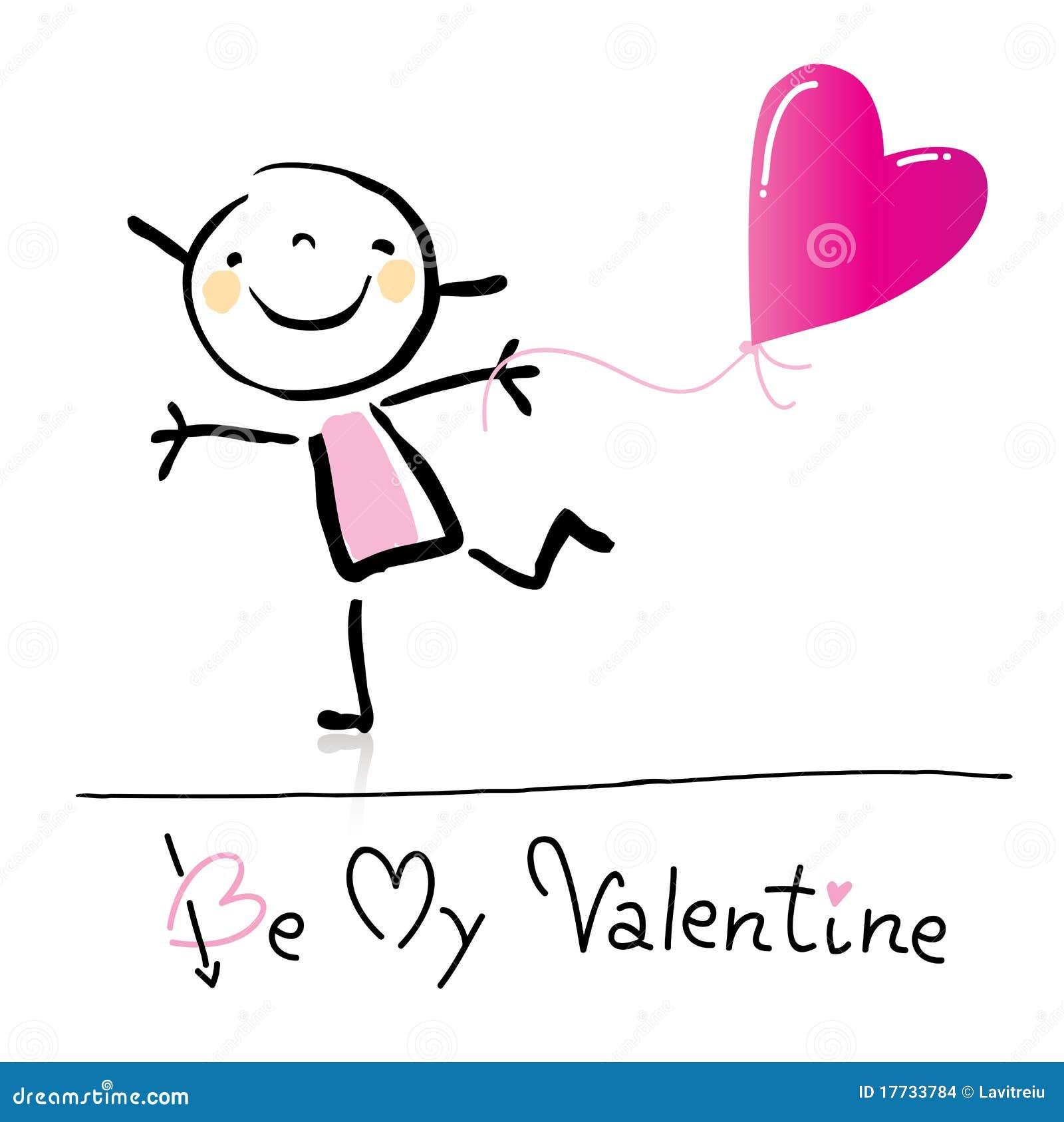 Valentin för tecknad filmdag s