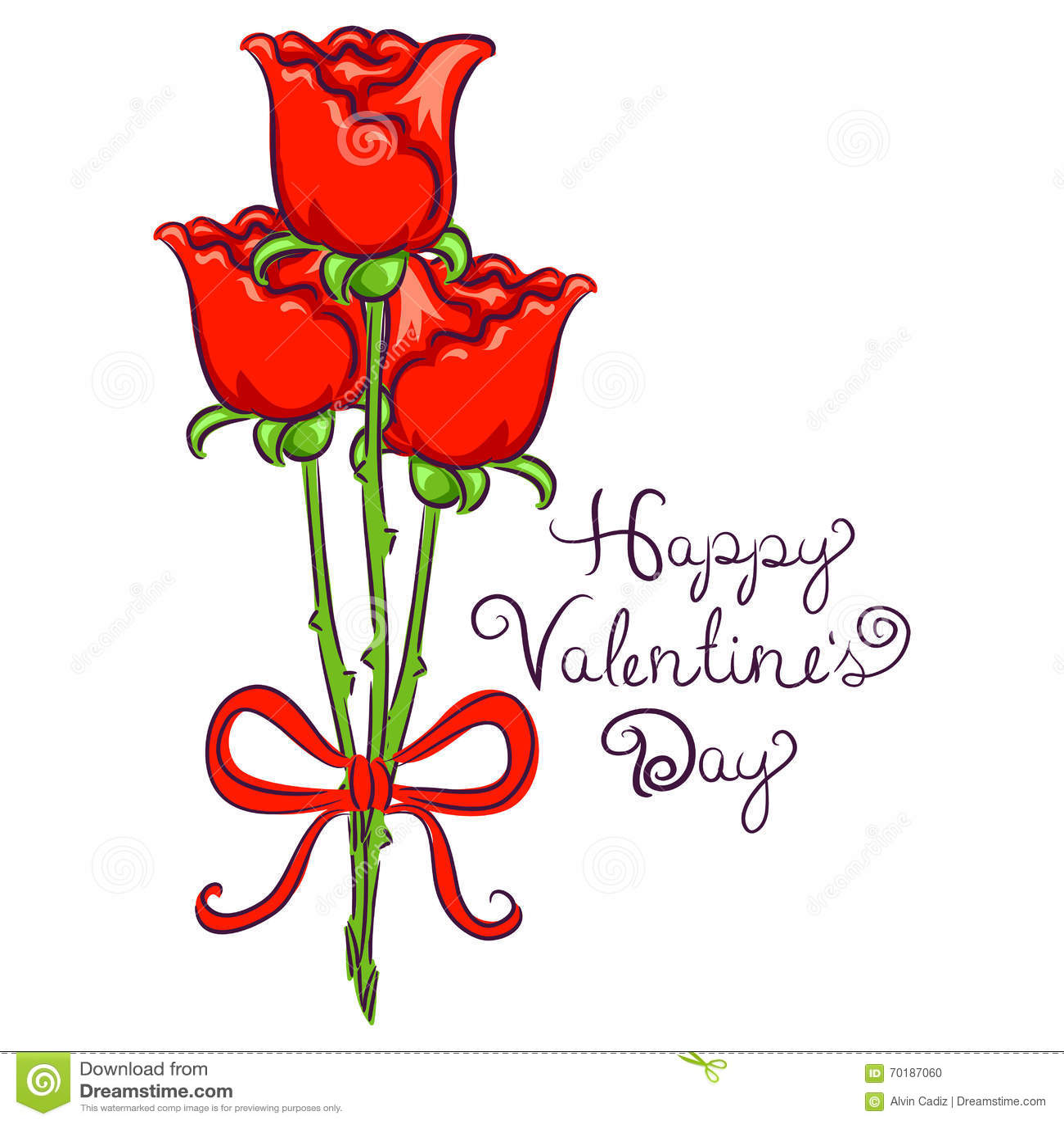 Valentindagbakgrund med rosen som binds i band