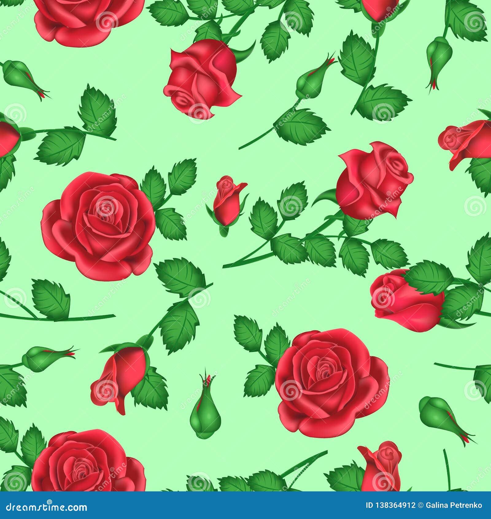 Valentindagbakgrund med rosor med ljust - gröna skuggor för garnering