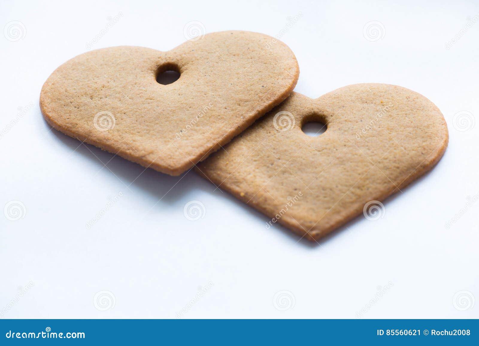 Valentine's-Herz mit Lebkuchen mit Raum für Aufschrift