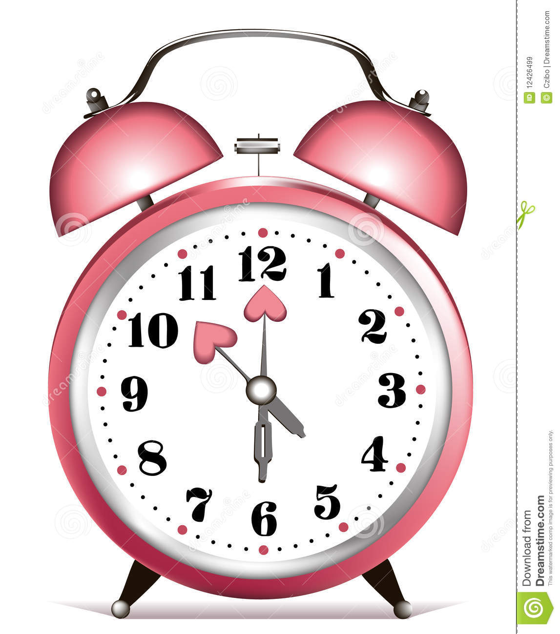 Valentine Alarm Clock Royalty Free Stock Images - Image: 12426499