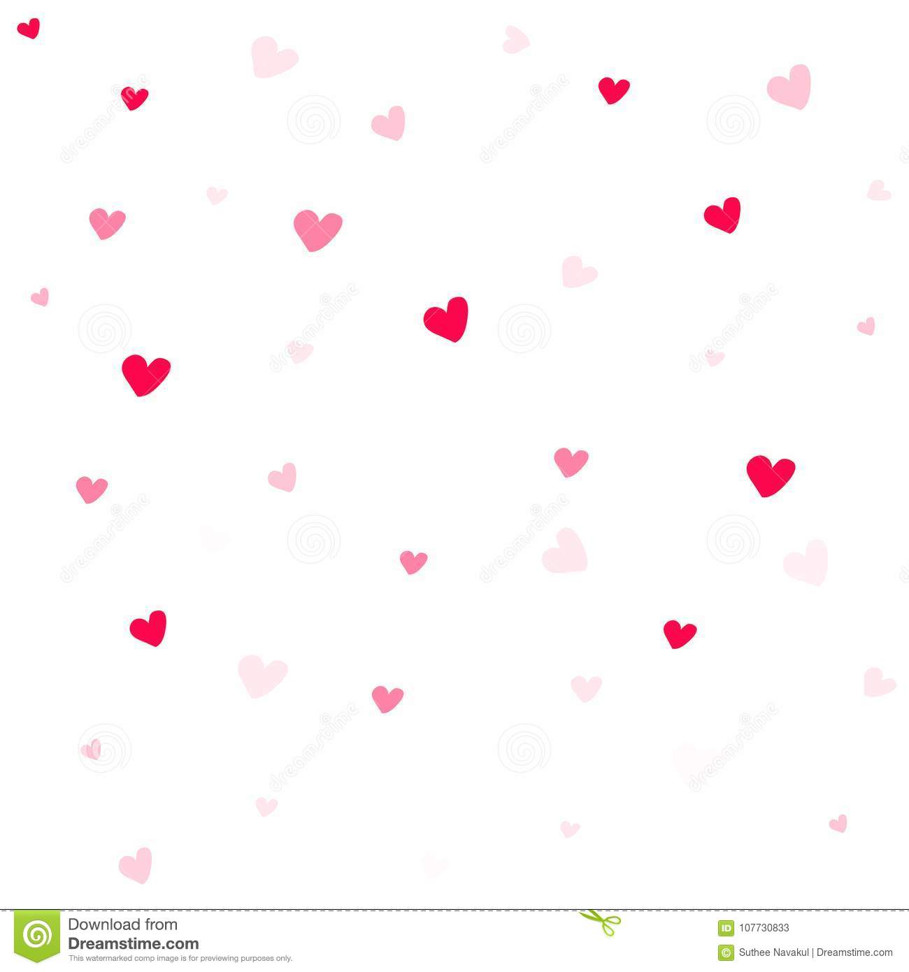 Valentine Background Abstract Hearts Wallpaper Stock