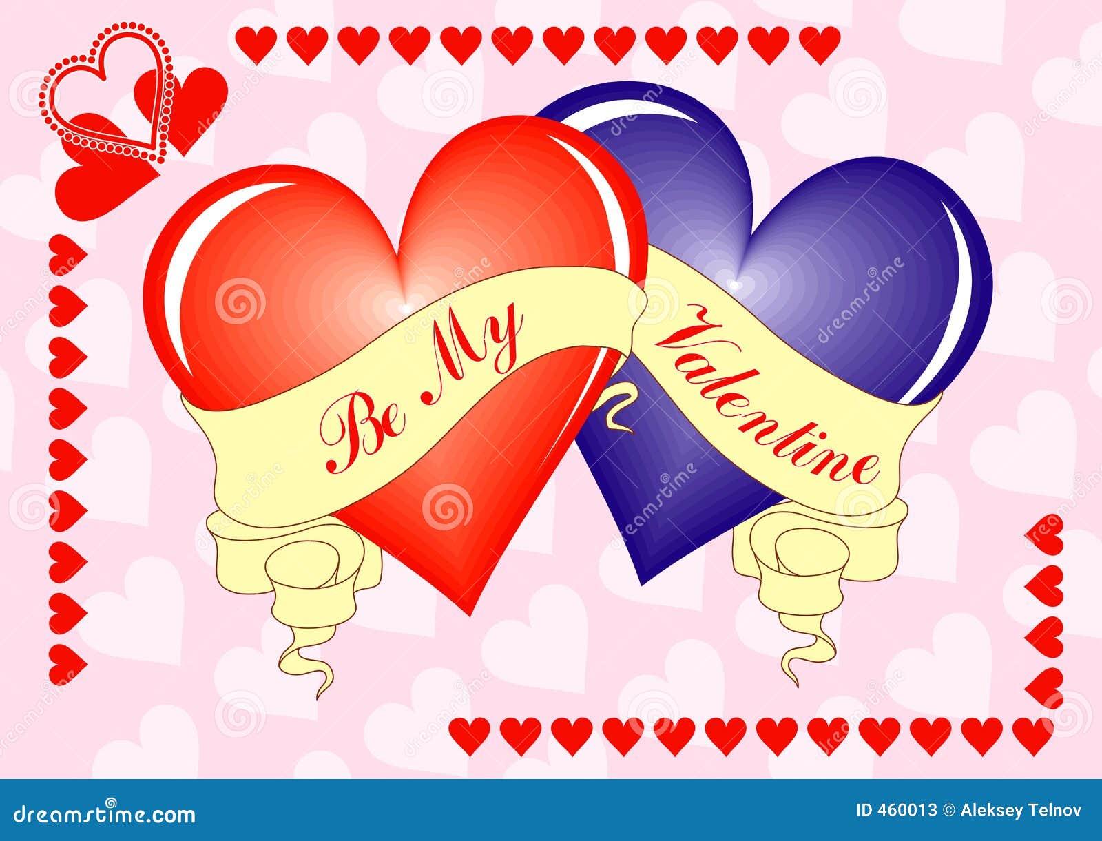 Valentine background, card, vector