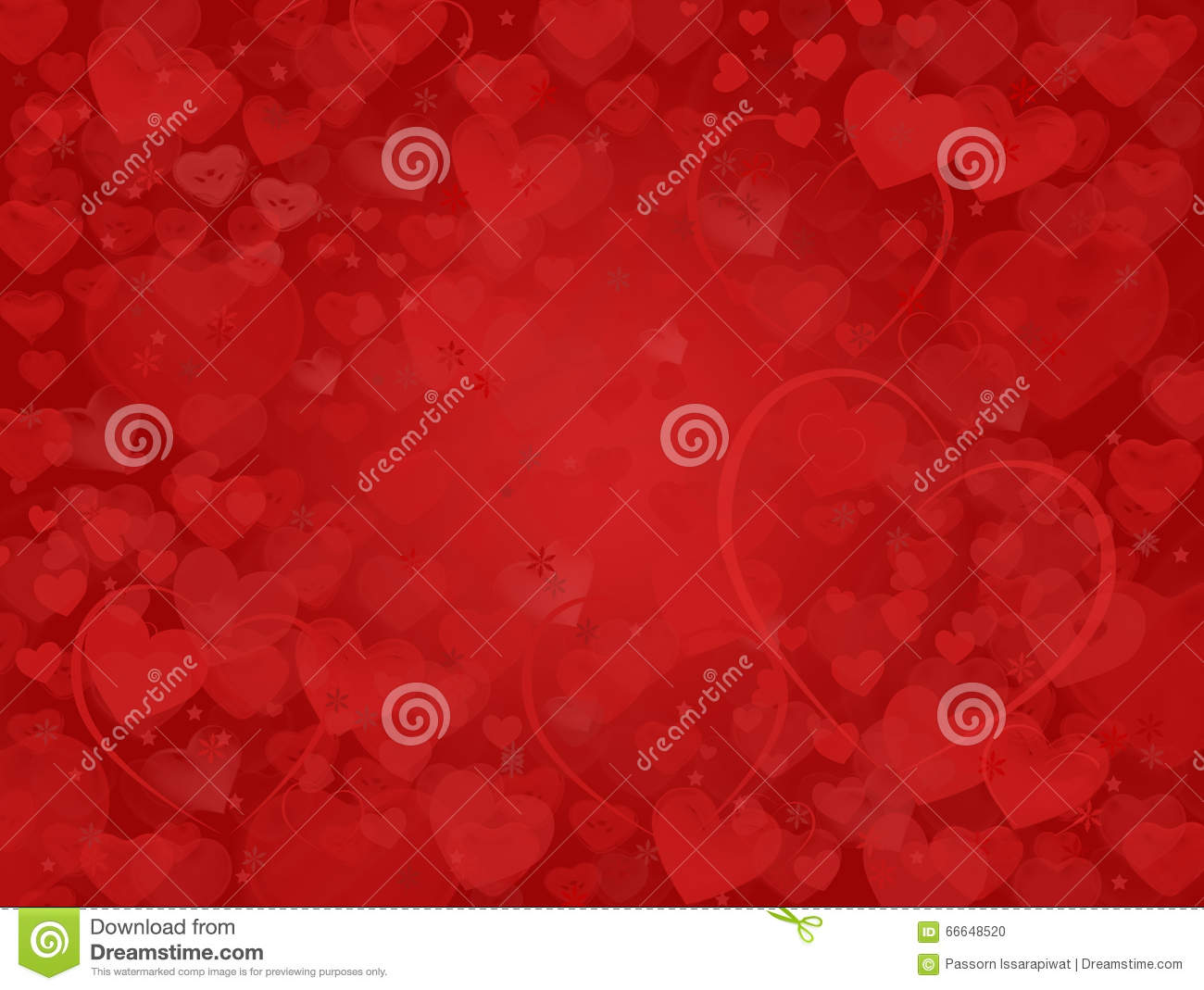 Valentine background with dream hearts frame stock photo - Dreaming about the color red ...