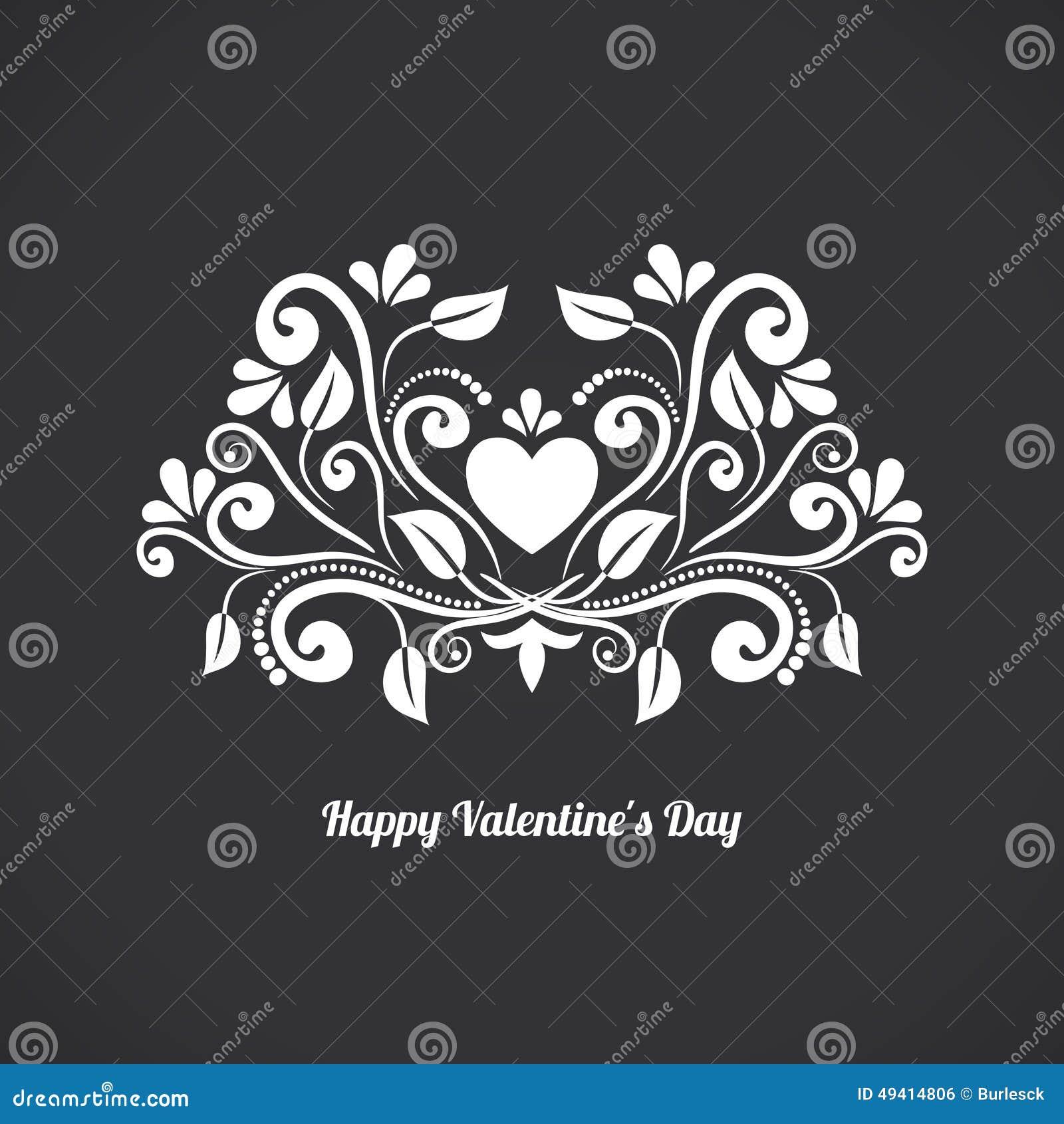 Download Valentine Blackboard Heart vektor abbildung. Illustration von liebe - 49414806