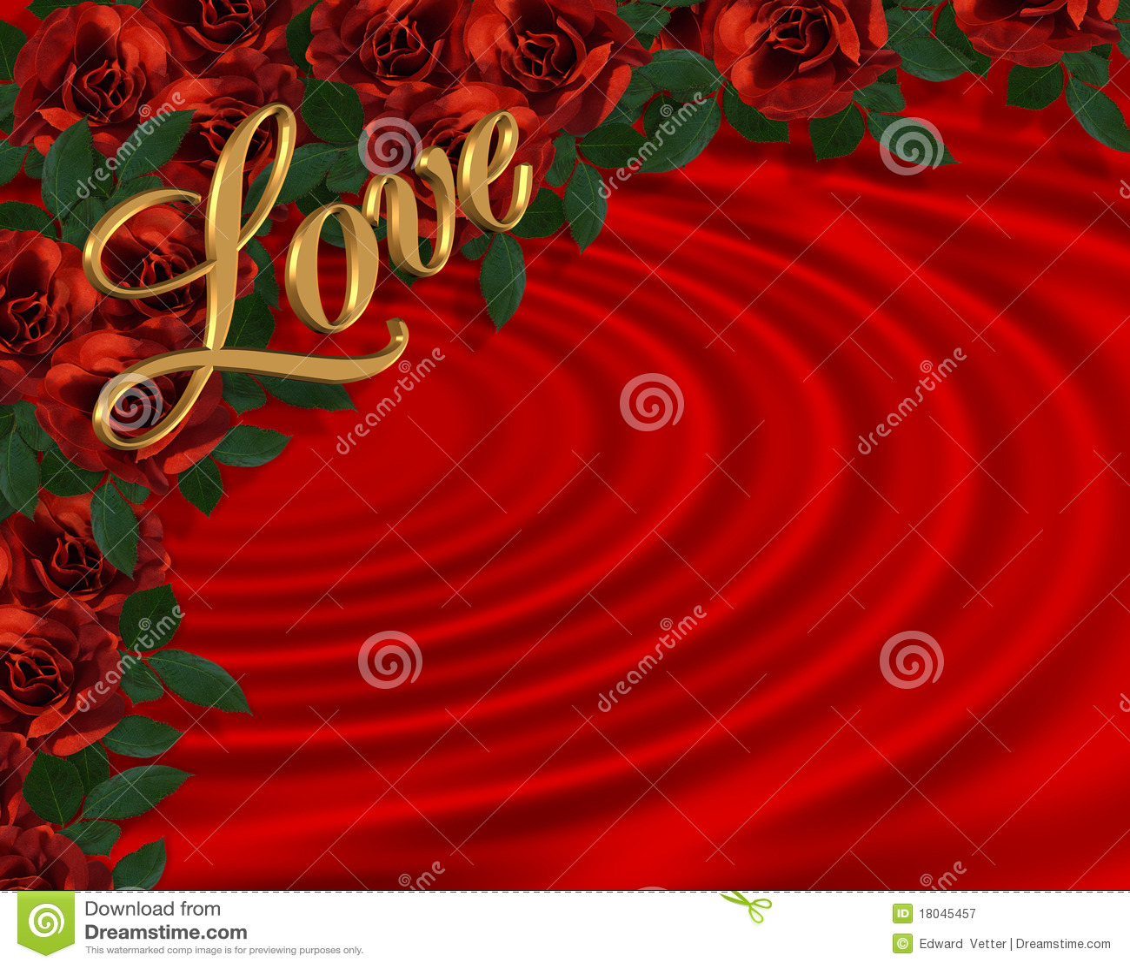 valentine border romantic red roses royalty free stock