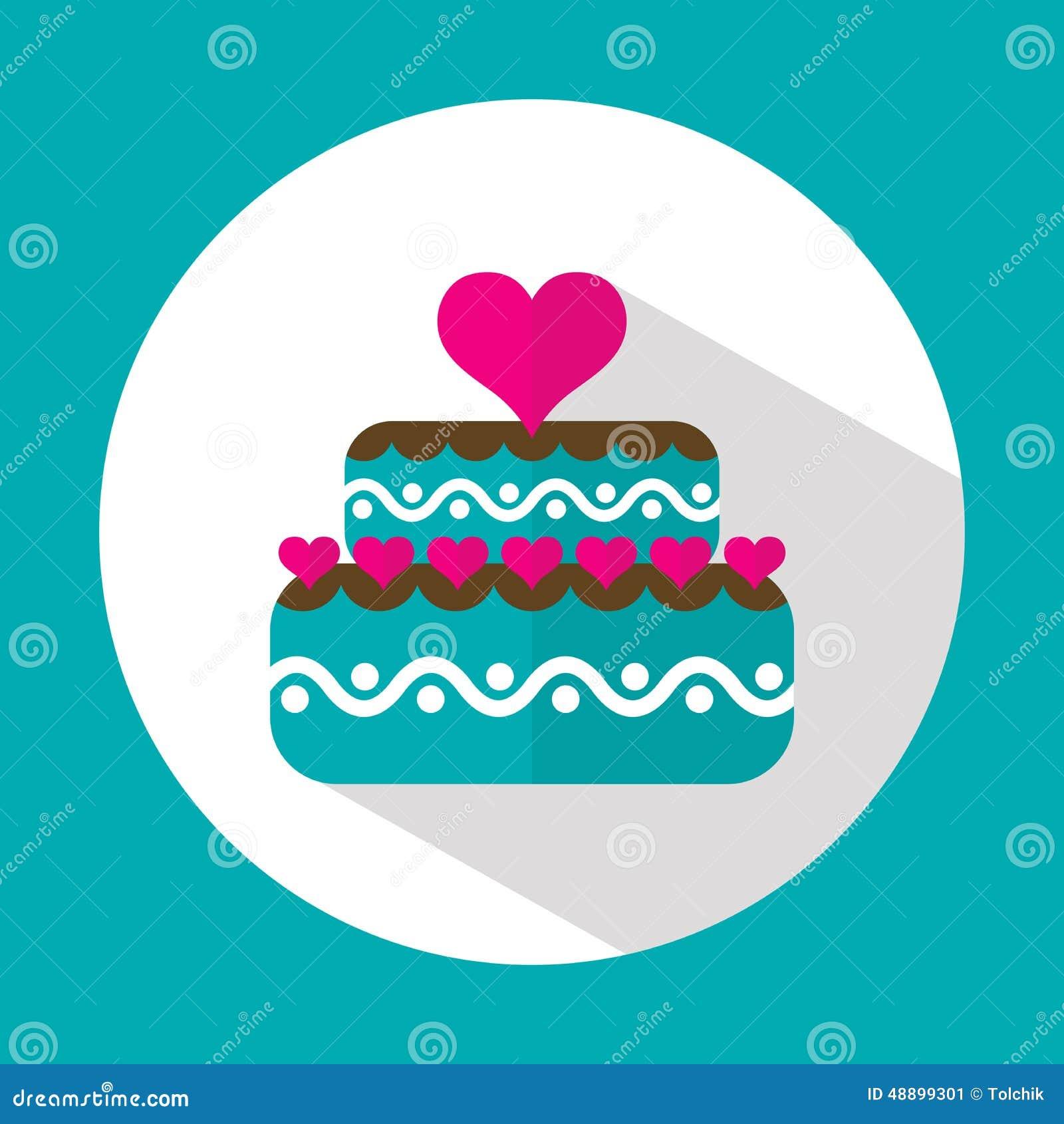 Birthday Cake Vector Flat Image Inspiration of Cake and Birthday