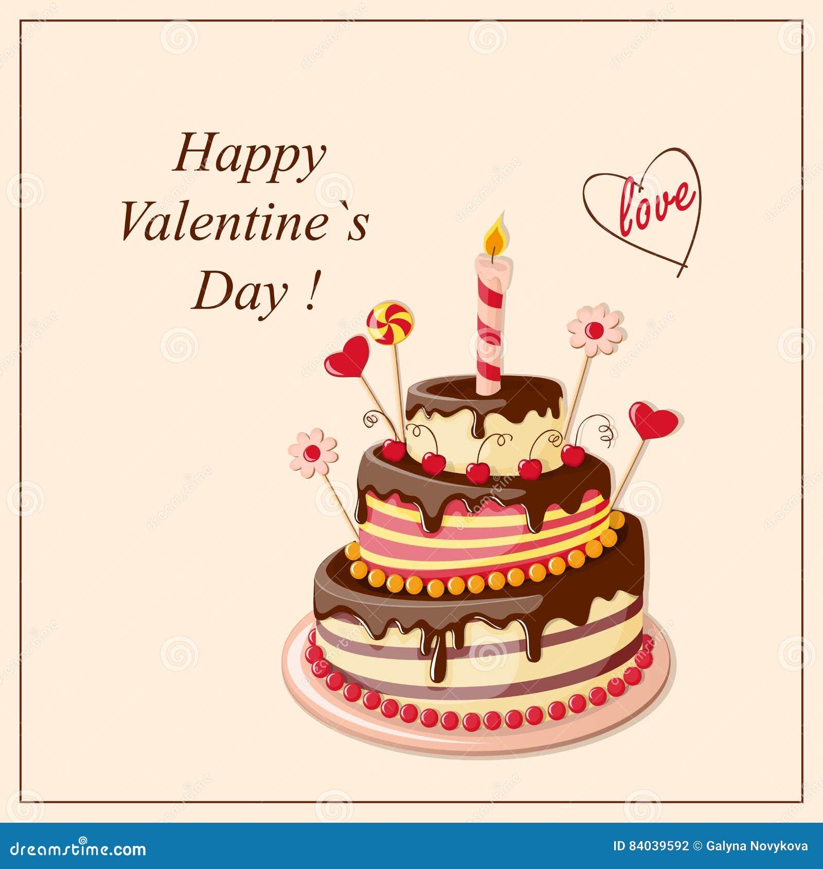 Valentine cake frame stock vector. Illustration of candle - 84039592