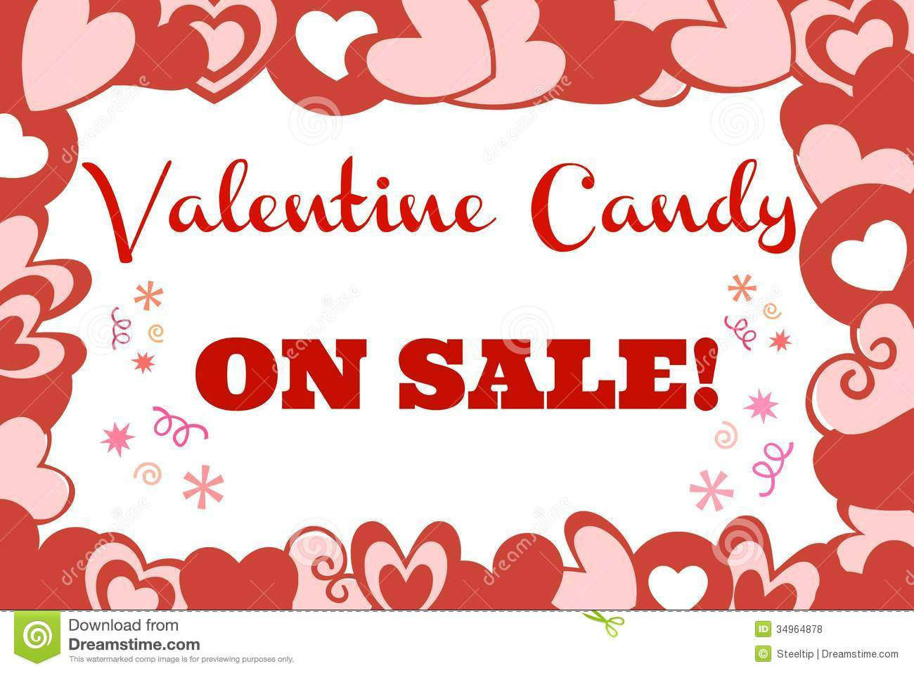 valentine candy sale sign - Valentine Sale