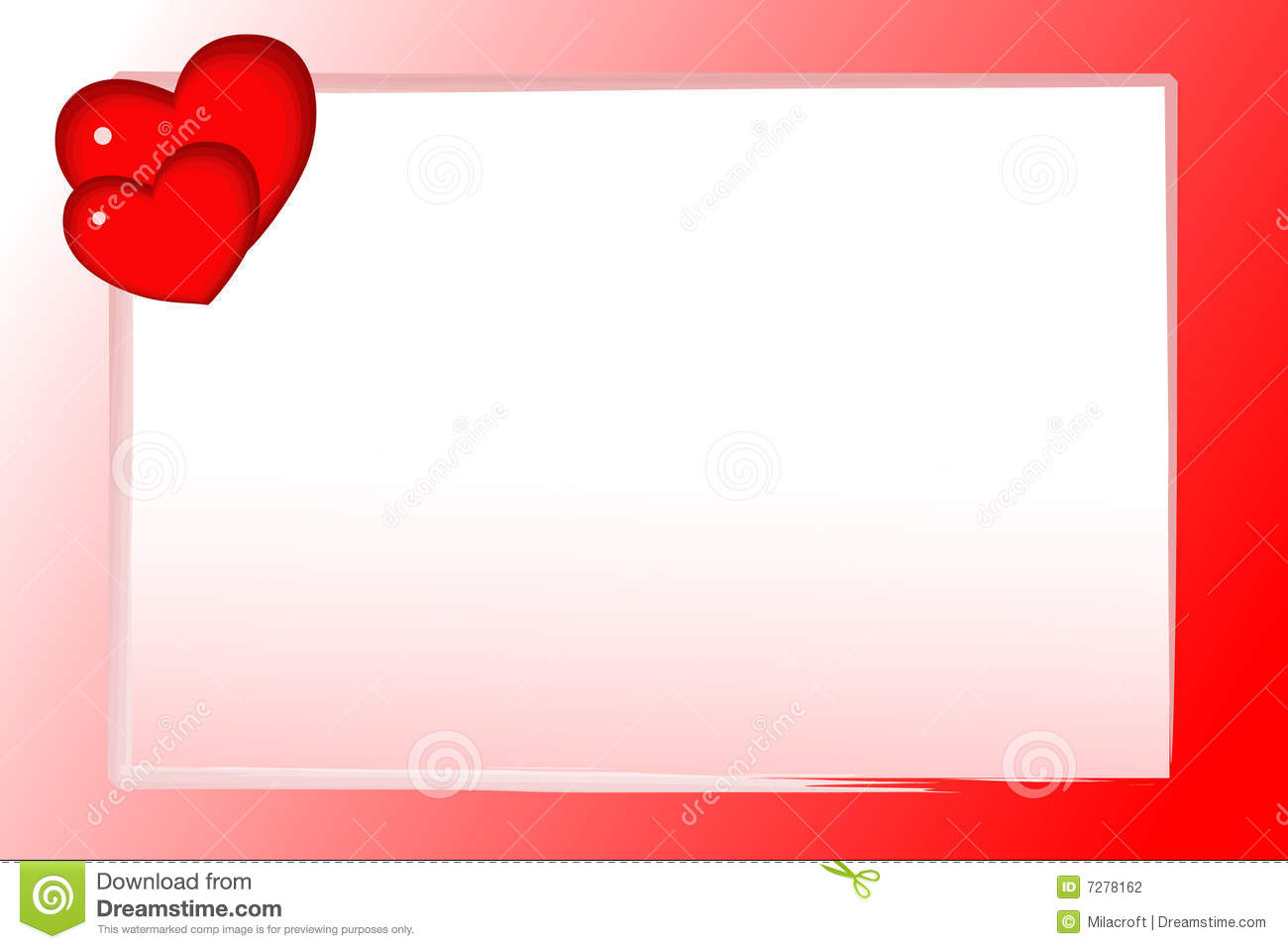 Valentine card stock photography image 7278162 for What to put on a valentines card