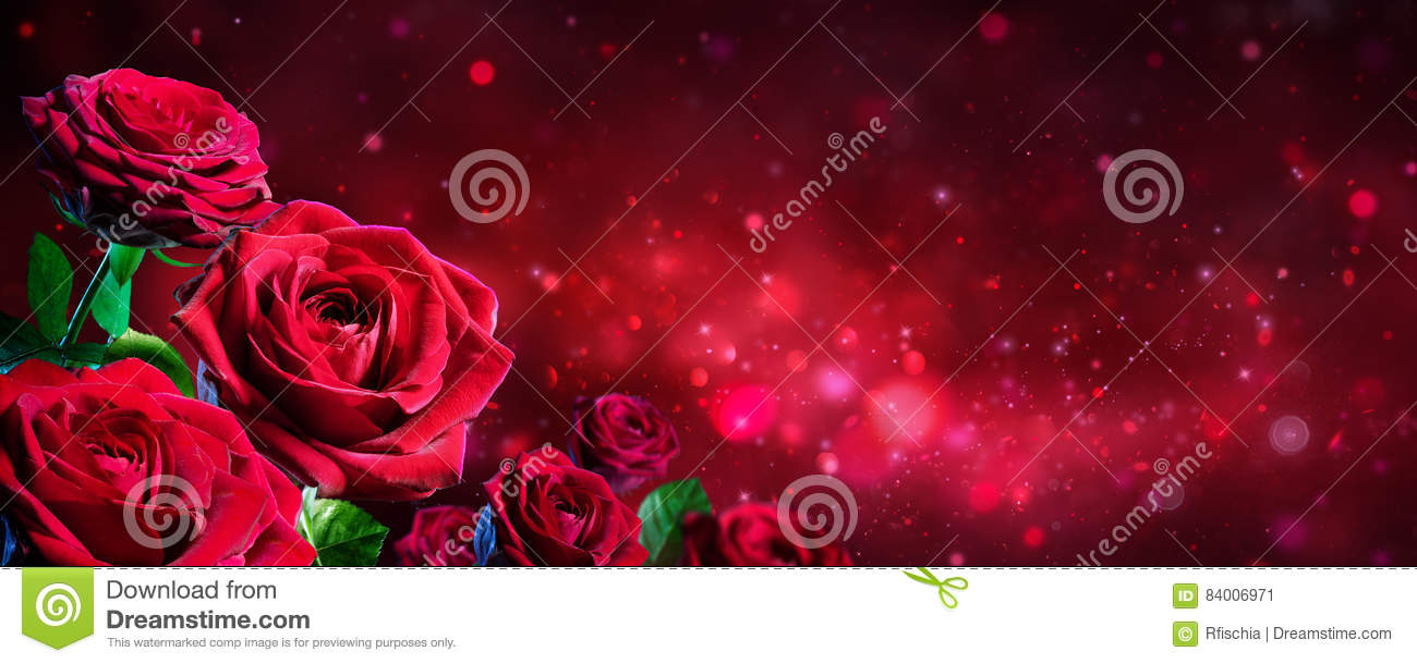 Valentine Card Bouquet Of Red Roses Photo Image 84006971 – Download Valentine Card