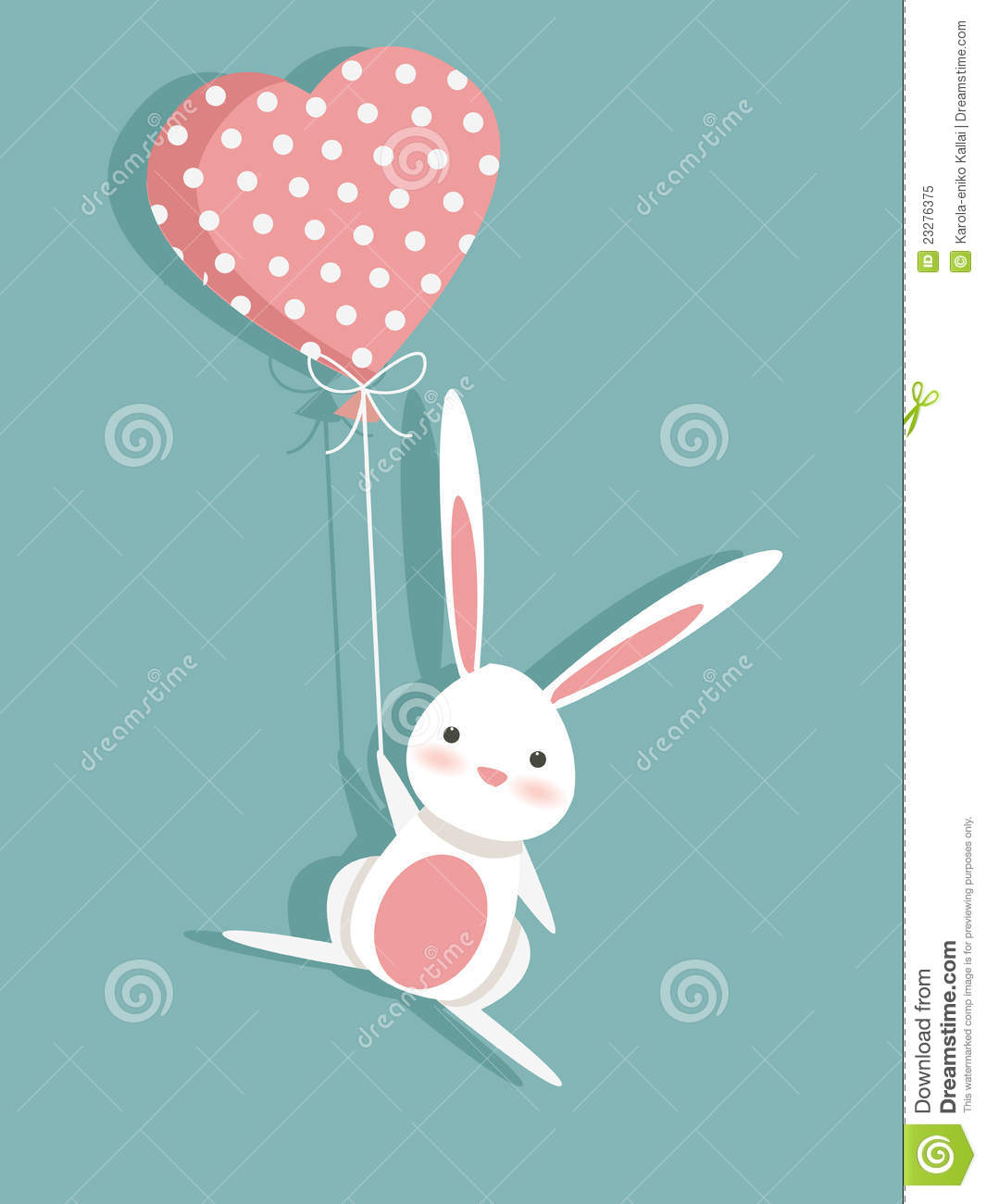 valentine card with a cute bunny stock illustration illustration