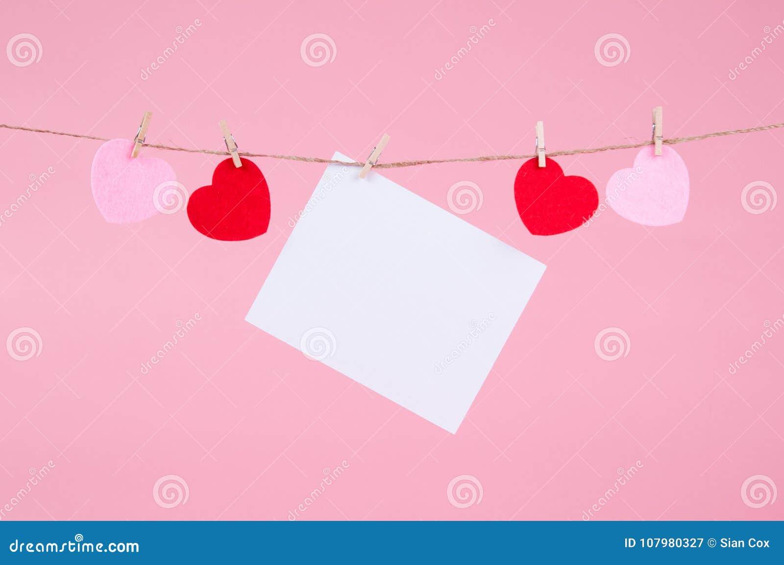 Valentine Card Mockup Stock Image Image Of Mockup Clothes 107980327
