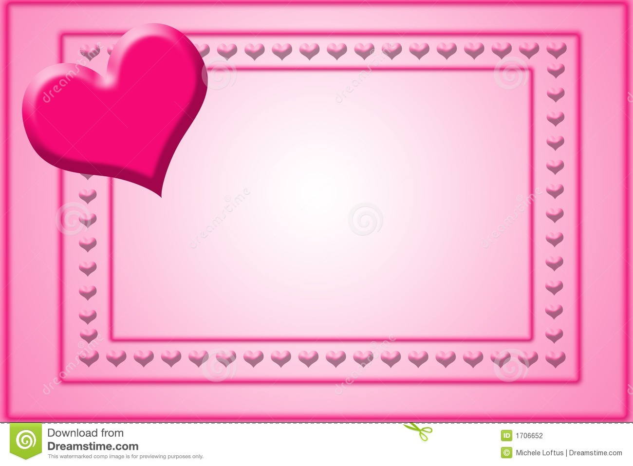 Valentine Card Template Stock Photography - Image: 1706652
