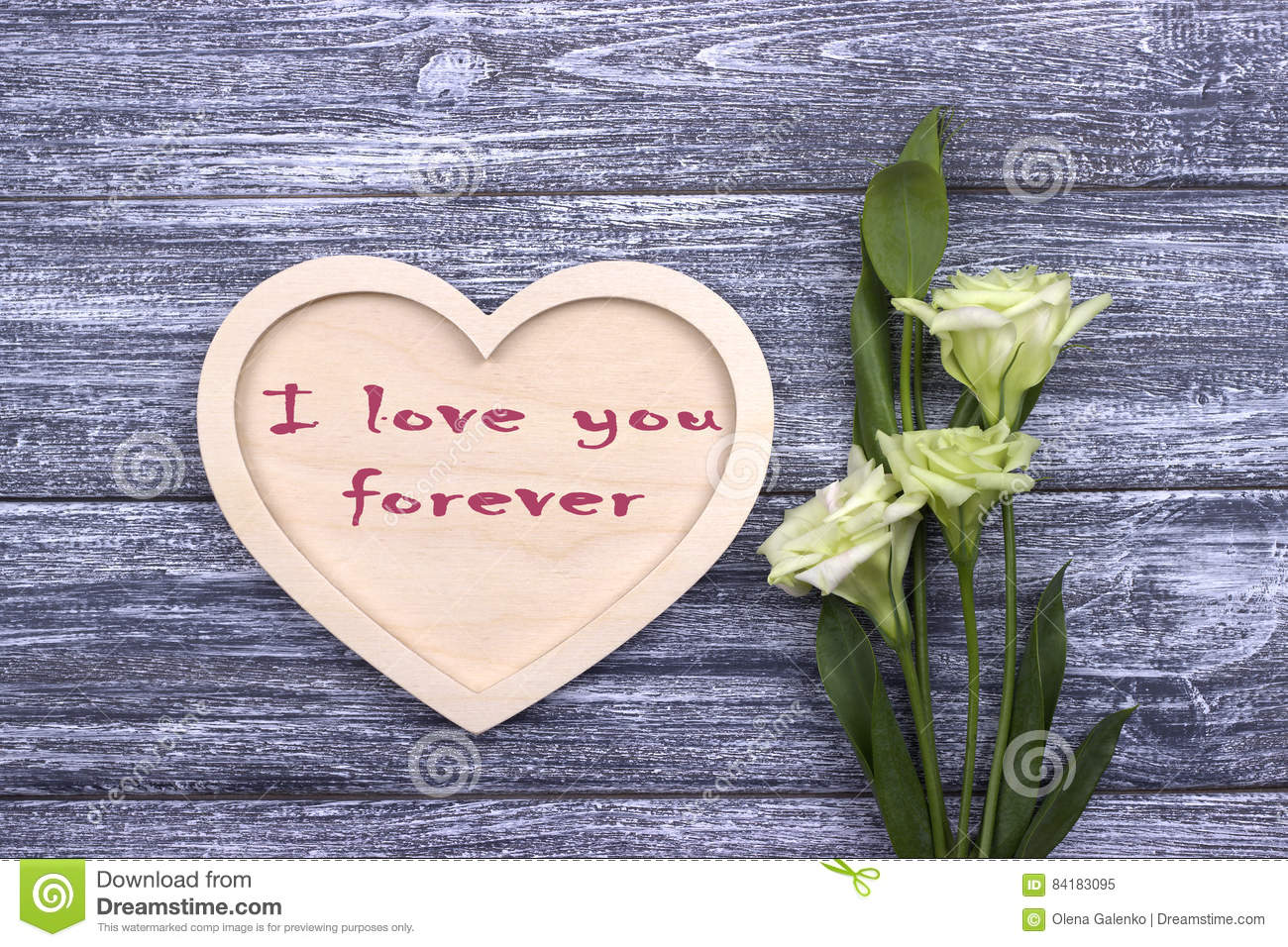 Valentine card with text I love you forever